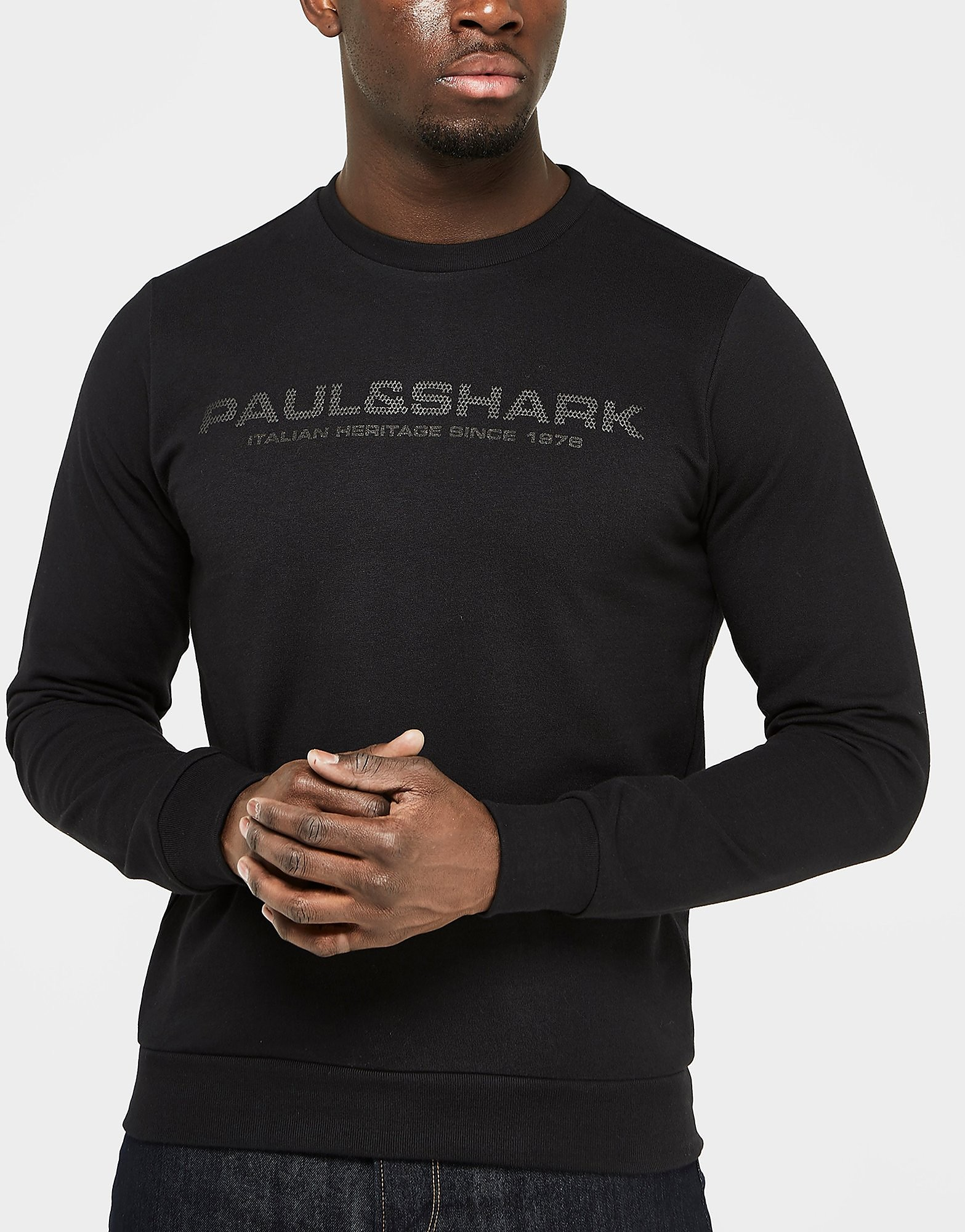 Paul and Shark Mesh Logo Crew Sweatshirt