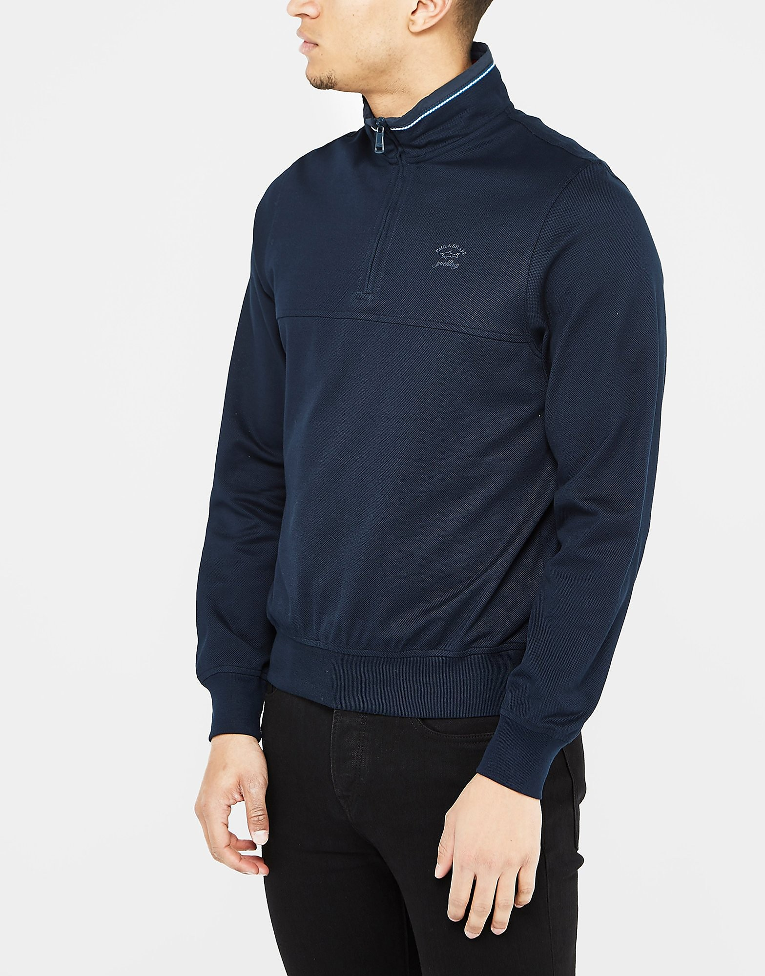 Paul and Shark 1/4 Zip Pique Knit
