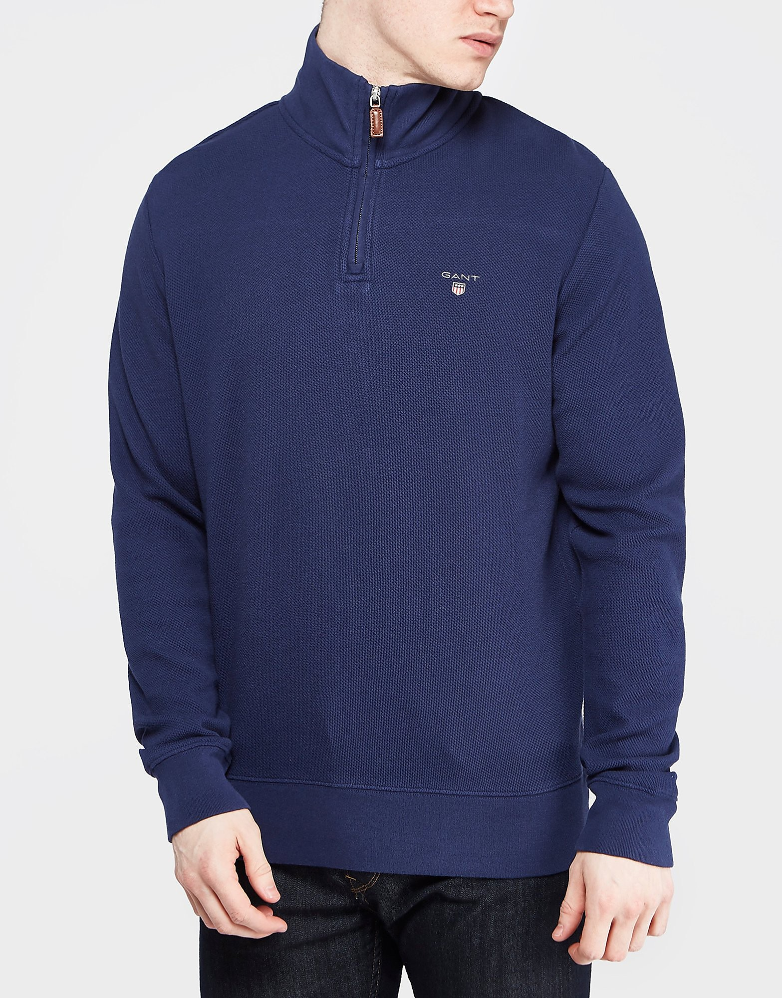 GANT Honeycomb 1/2 Zip Sweatshirt