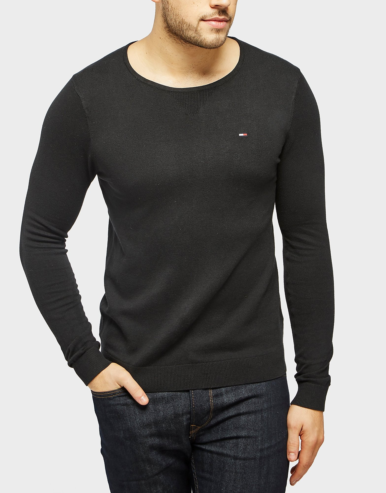 Tommy Hilfiger Long Sleeve Crew TShirt  Black Black