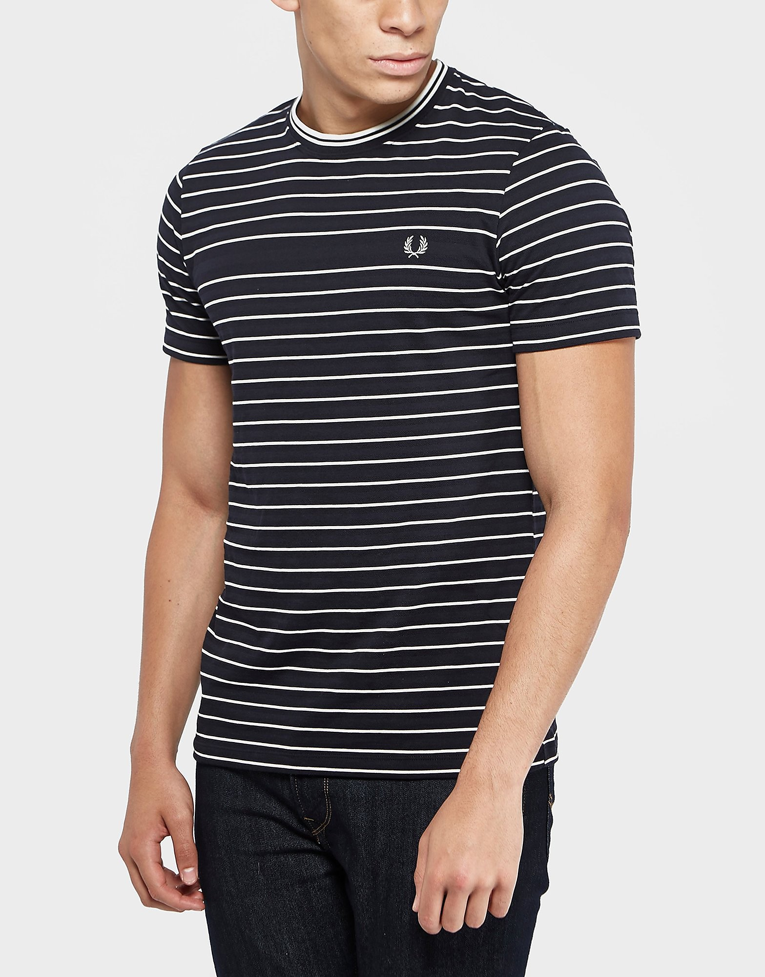 Fred Perry Pique Stripe Short Sleeve T-Shirt