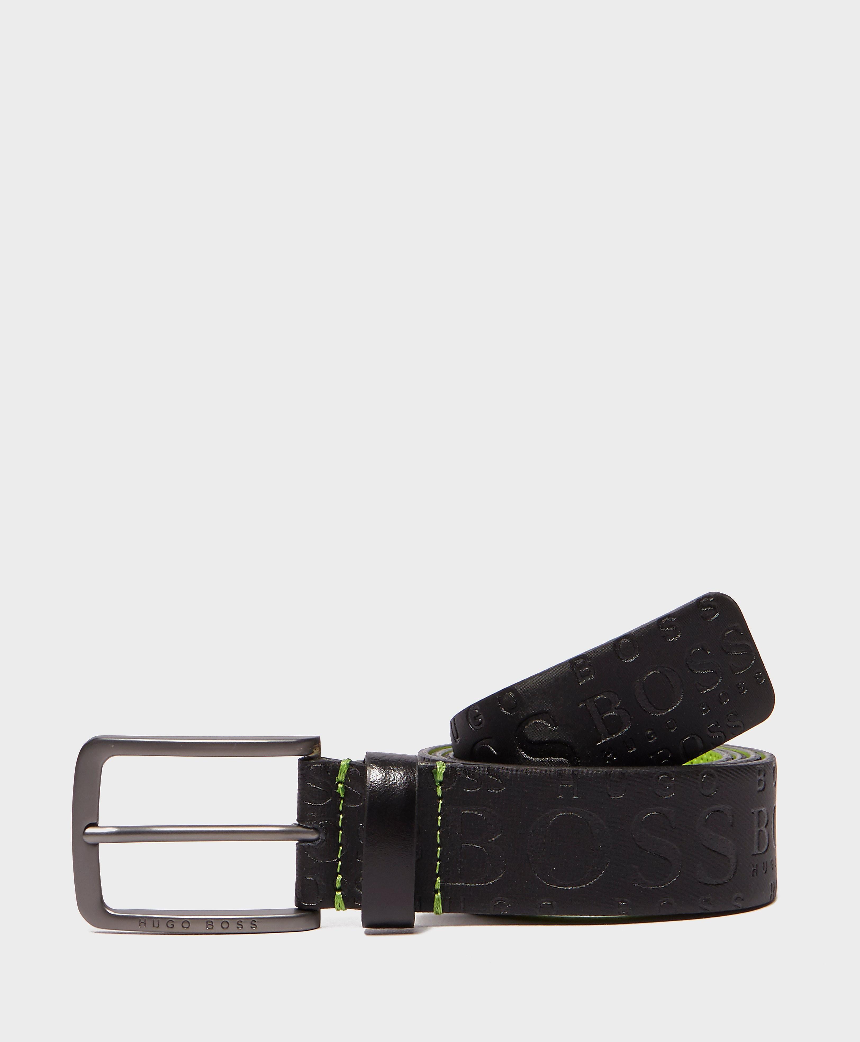 BOSS Green Embossed Leather Belt