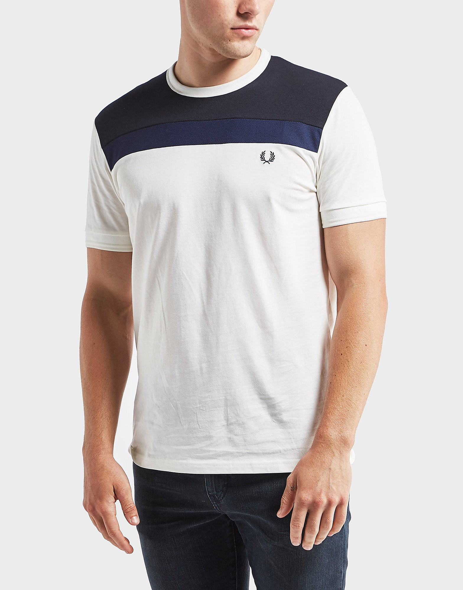 Fred Perry Textured Panel Short Sleeve T-Shirt - Exclusive