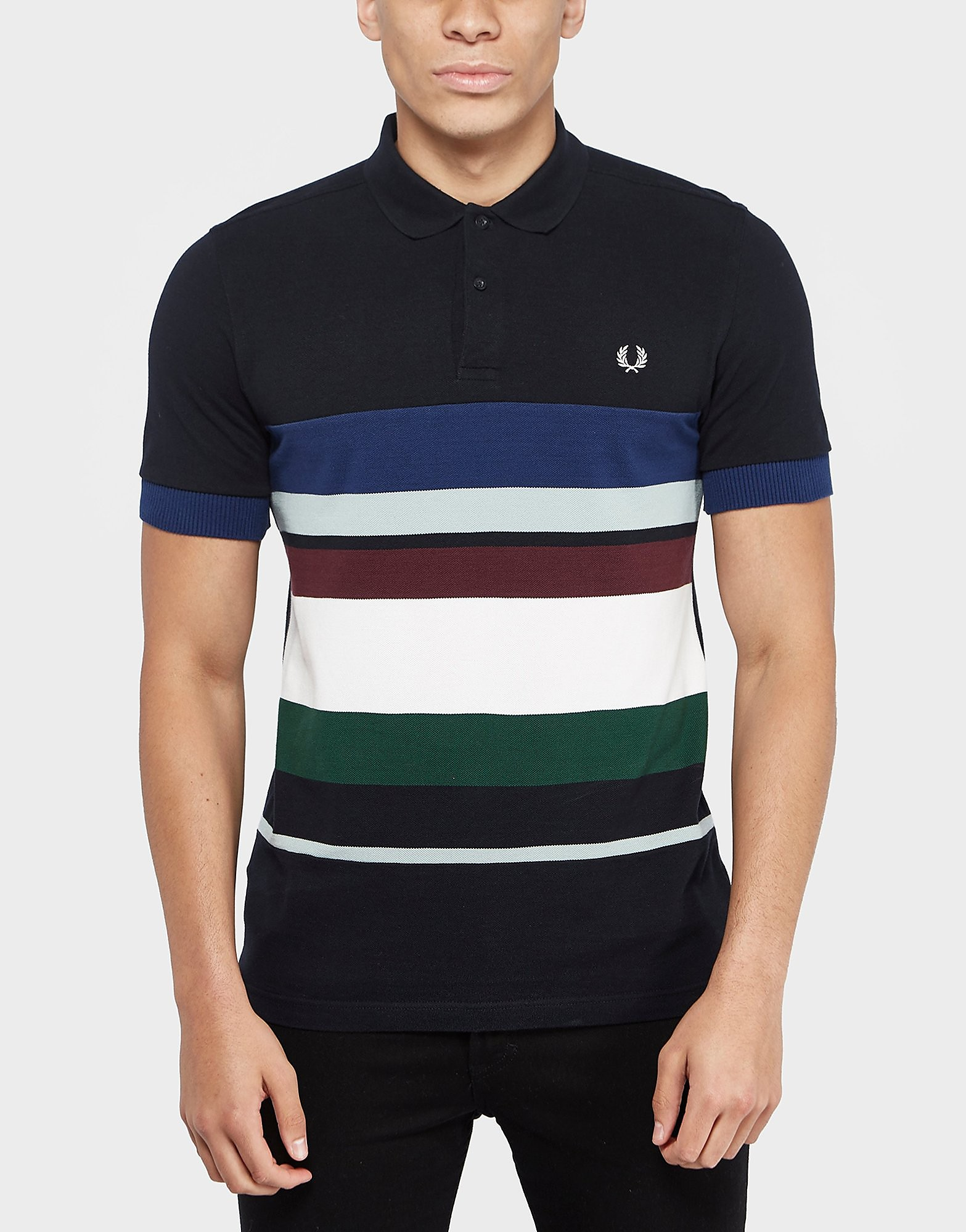 Fred Perry Multi Stripe Pique Polo Shirt