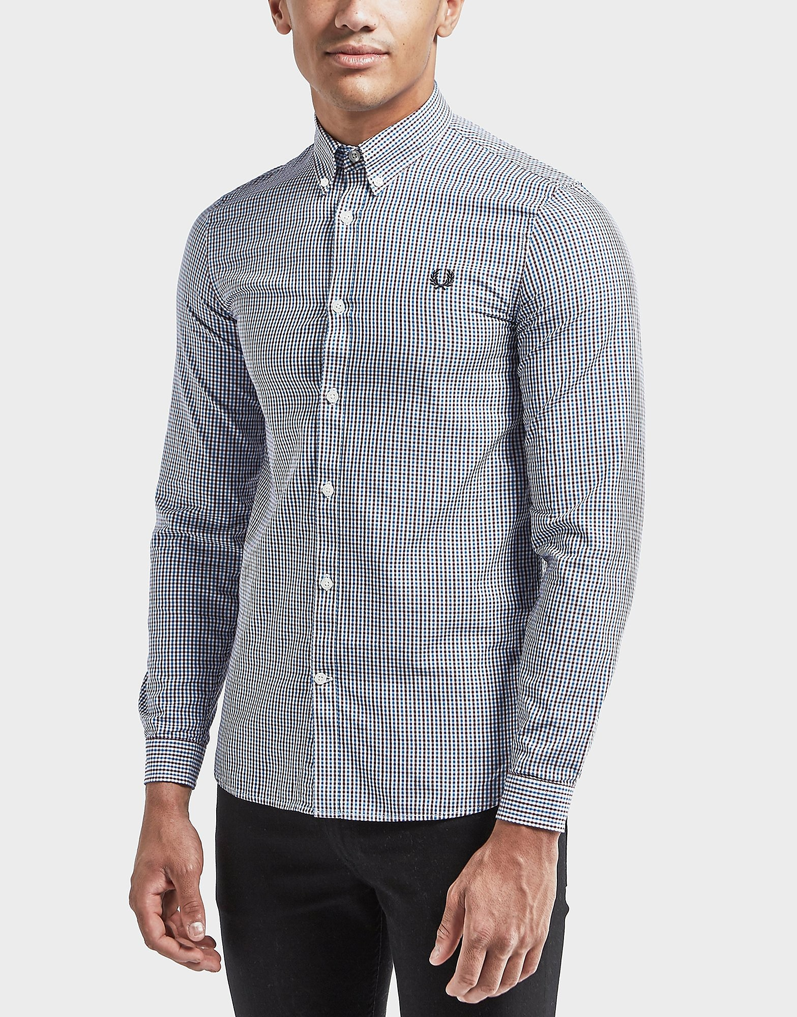 Fred Perry 3 Colour Gingham Long Sleeve Check Shirt