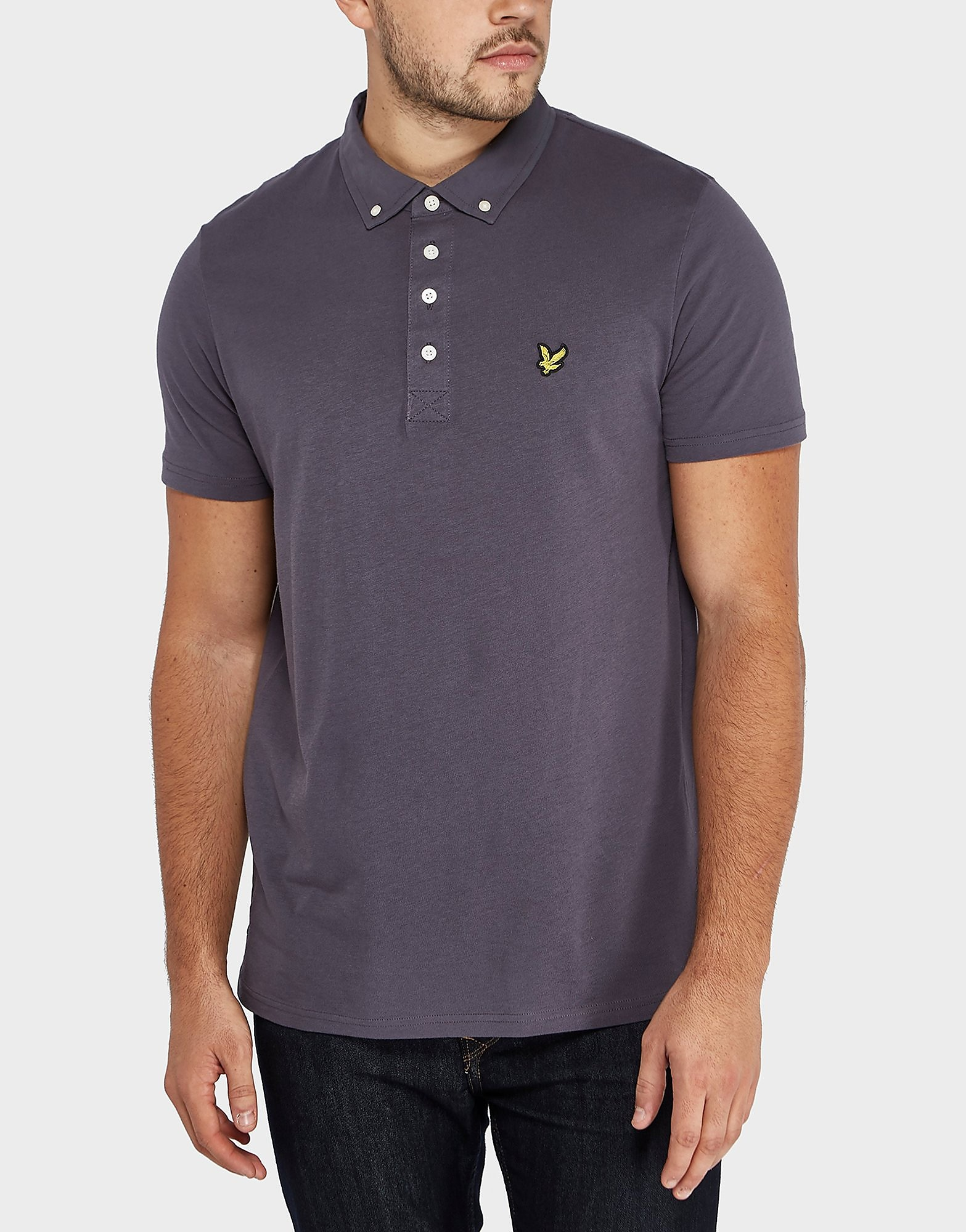 Lyle & Scott Woven Collar Short Sleeve Polo Shirt
