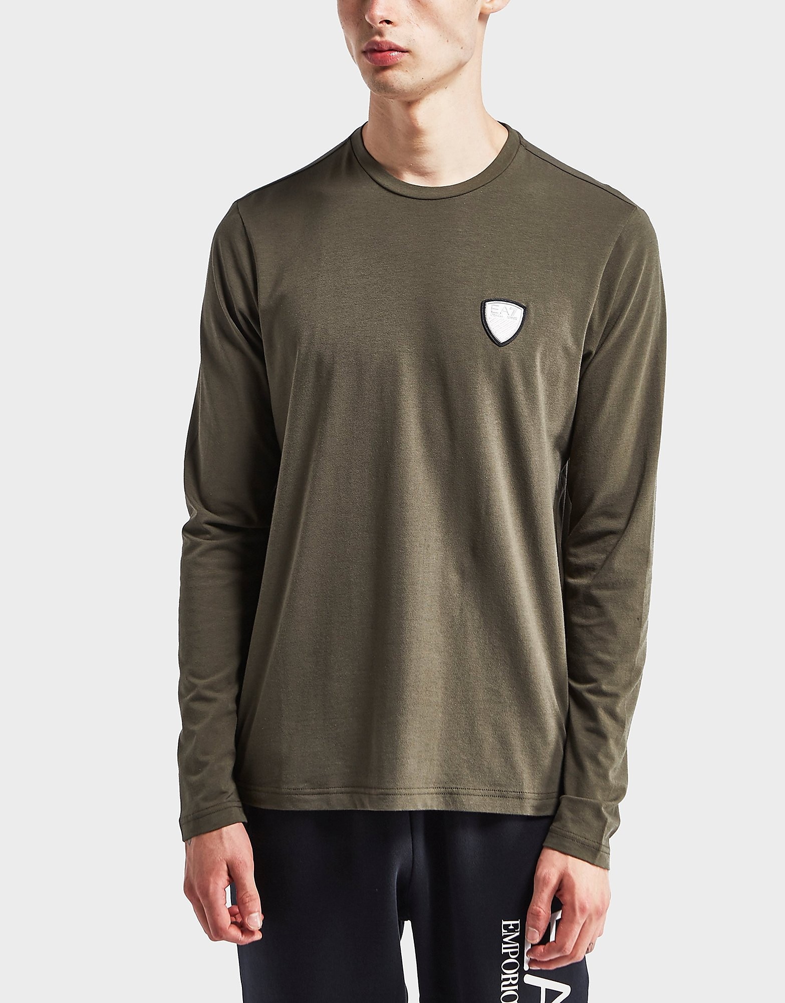 Emporio Armani EA7 Shield Logo Long Sleeve T-Shirt - Exclusive