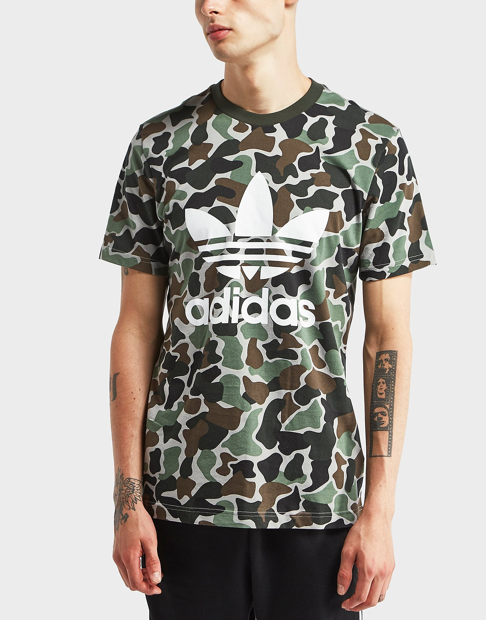 adidas Originals Camouflage Print Short Sleeve T-Shirt