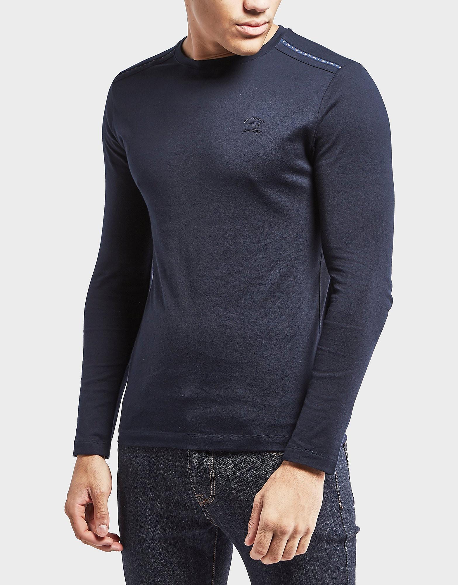 Paul and Shark Long Sleeve Shoulder Detail T-Shirt
