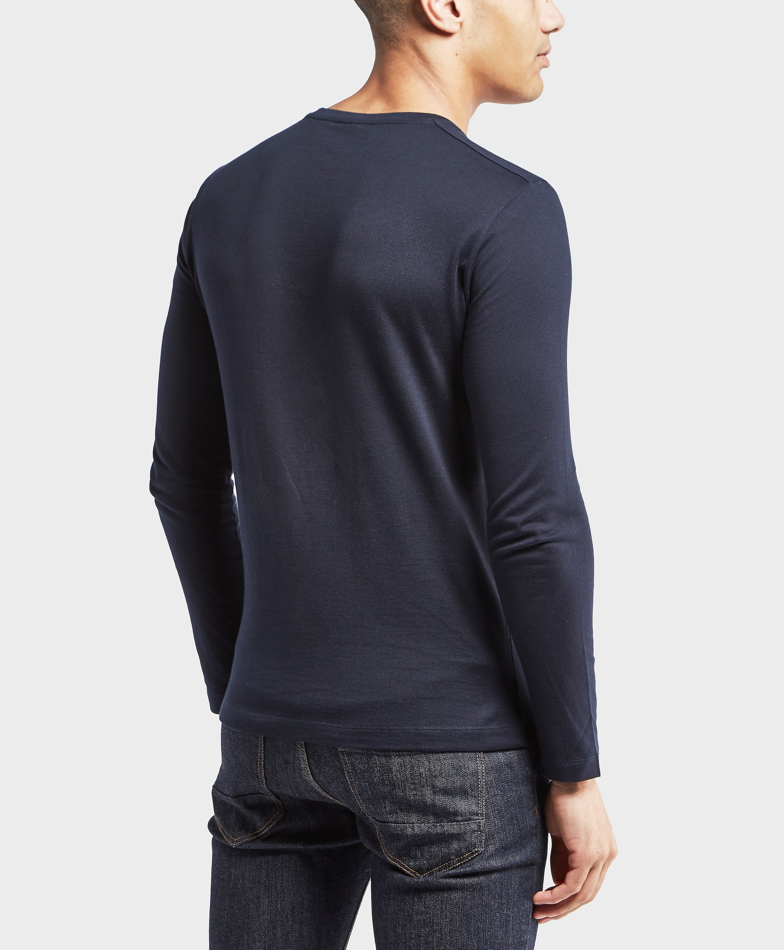 Paul and Shark Long Sleeve Shoulder Detail T-Shirt