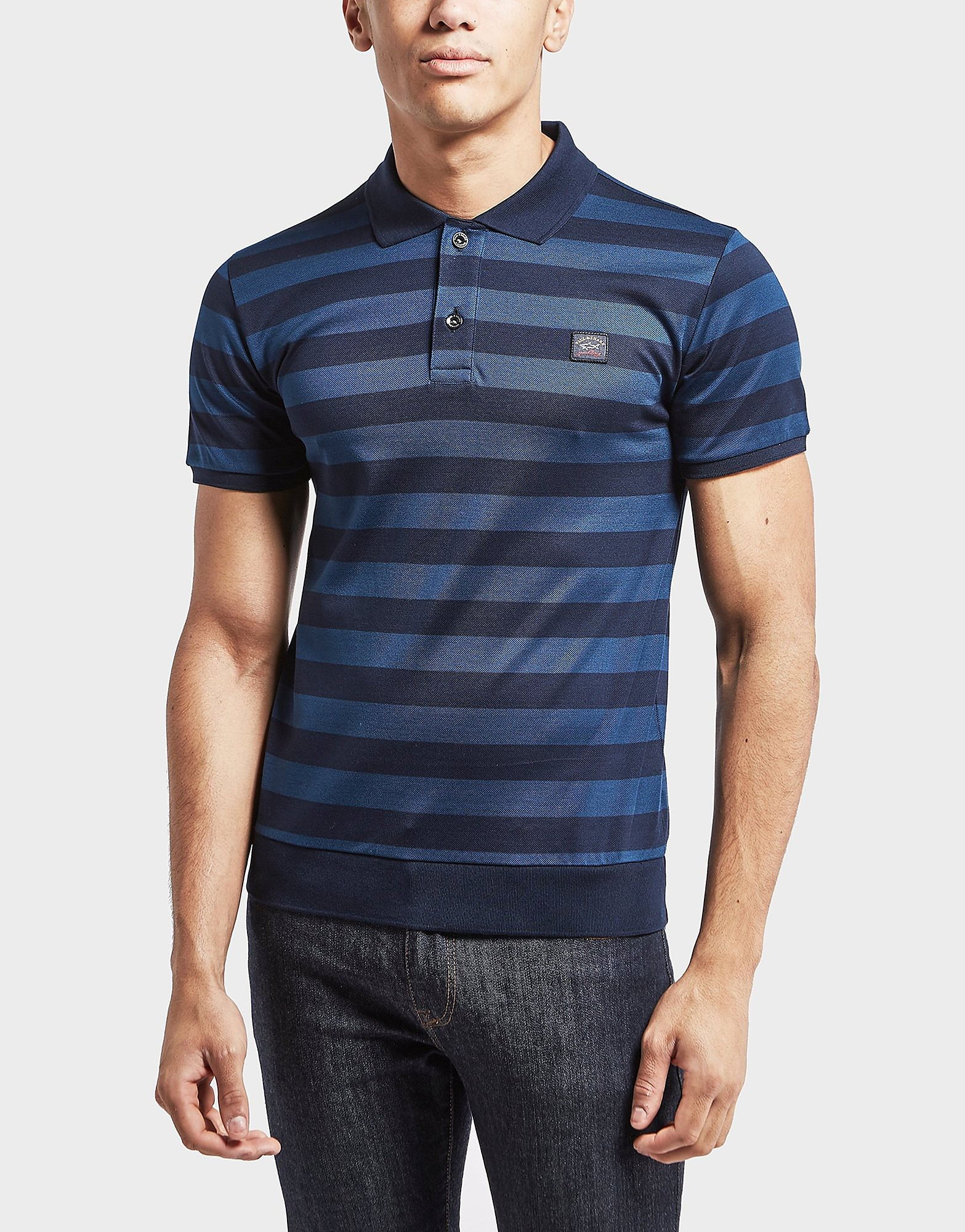 Paul and Shark Stripe Short Sleeve Polo Shirt