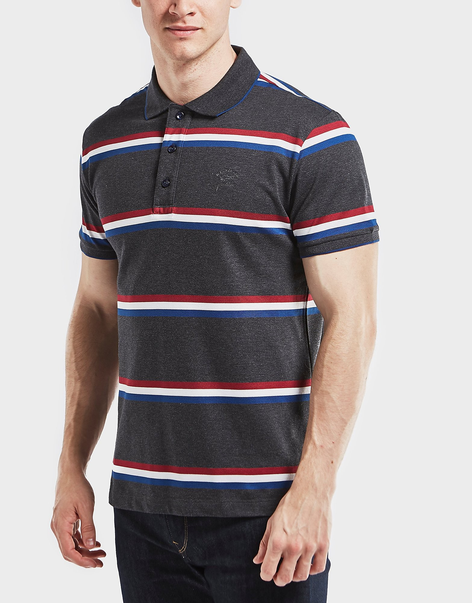 Paul and Shark Striped Short Sleeve Polo Shirt