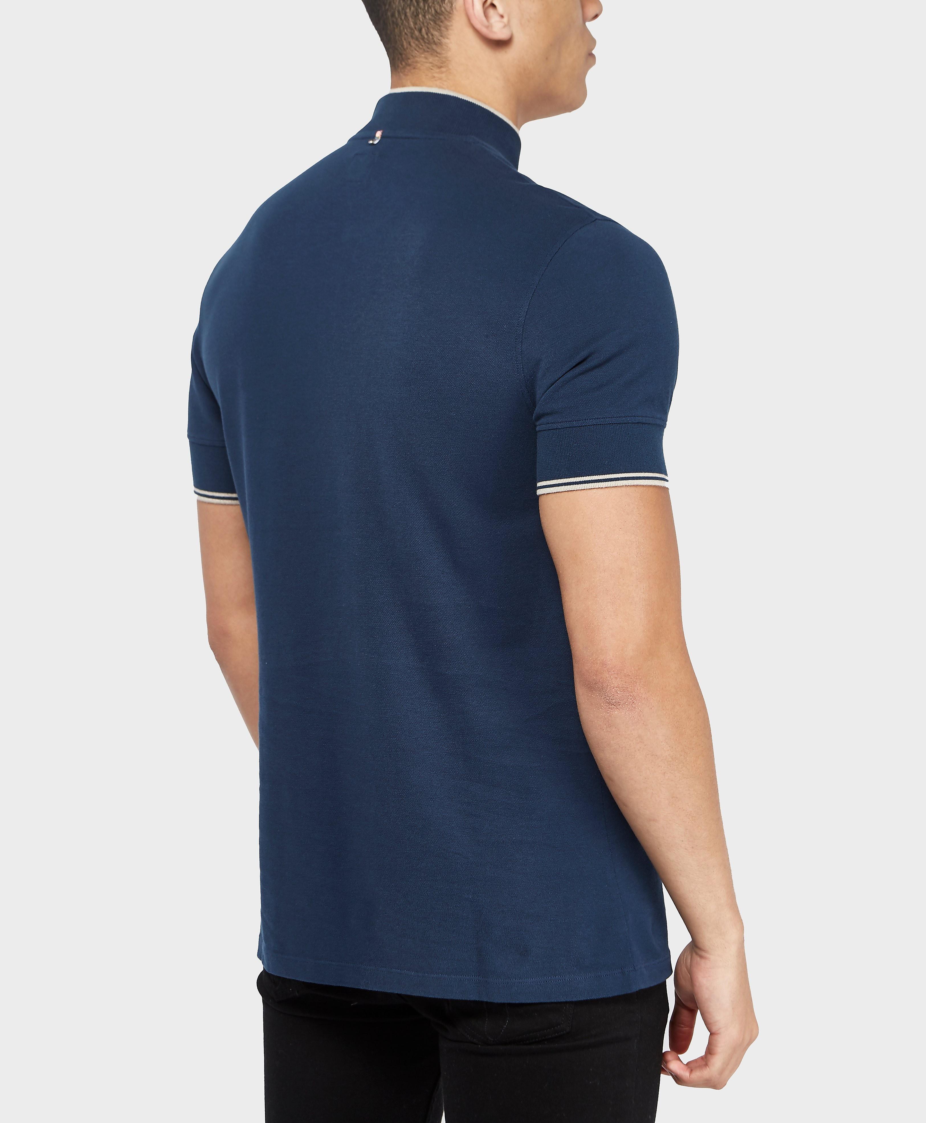 Pretty Green Langshaw Zip Short Sleeve Polo Shirt