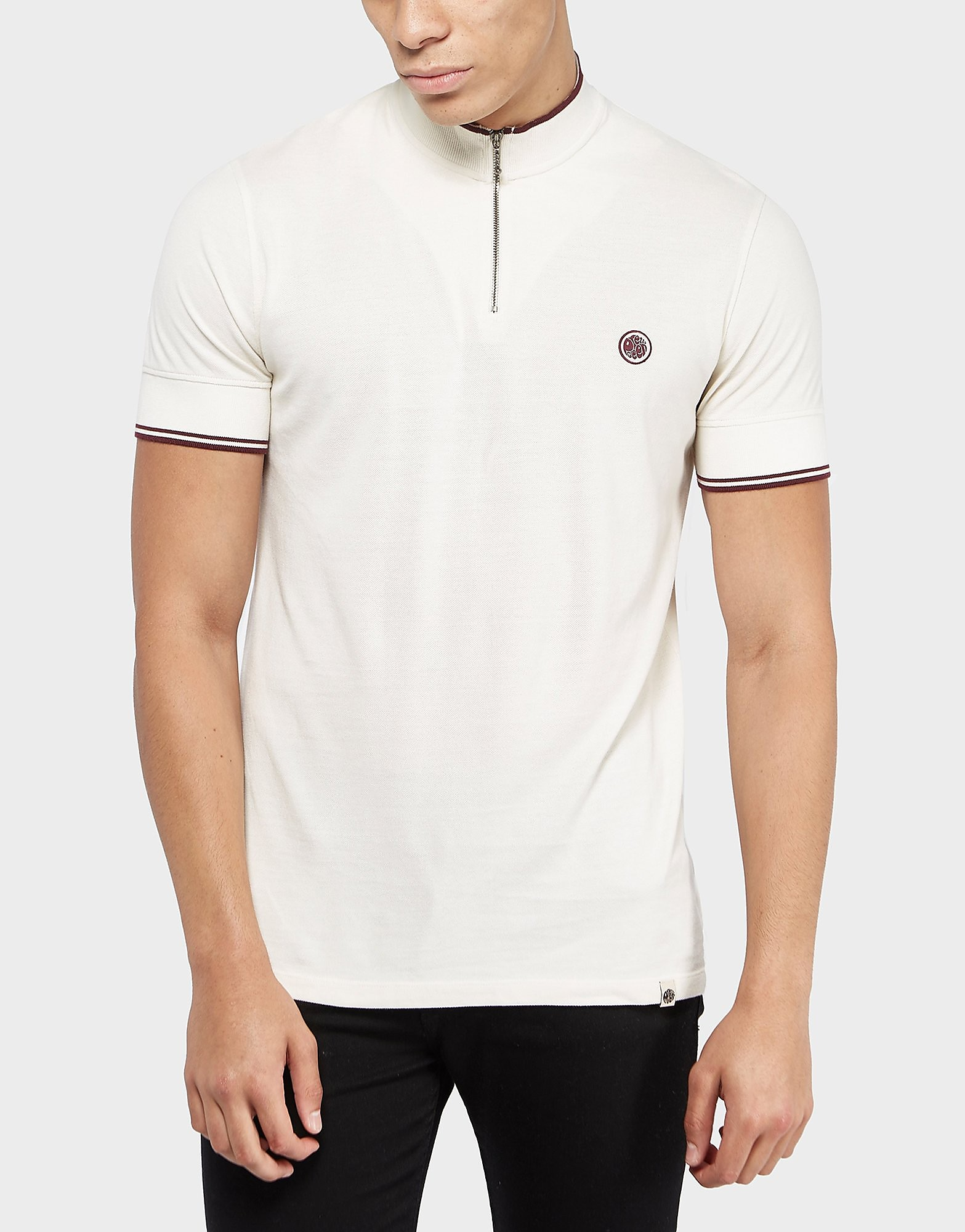 Pretty Green Langshaw Zip Short Sleeve Polo Shirt