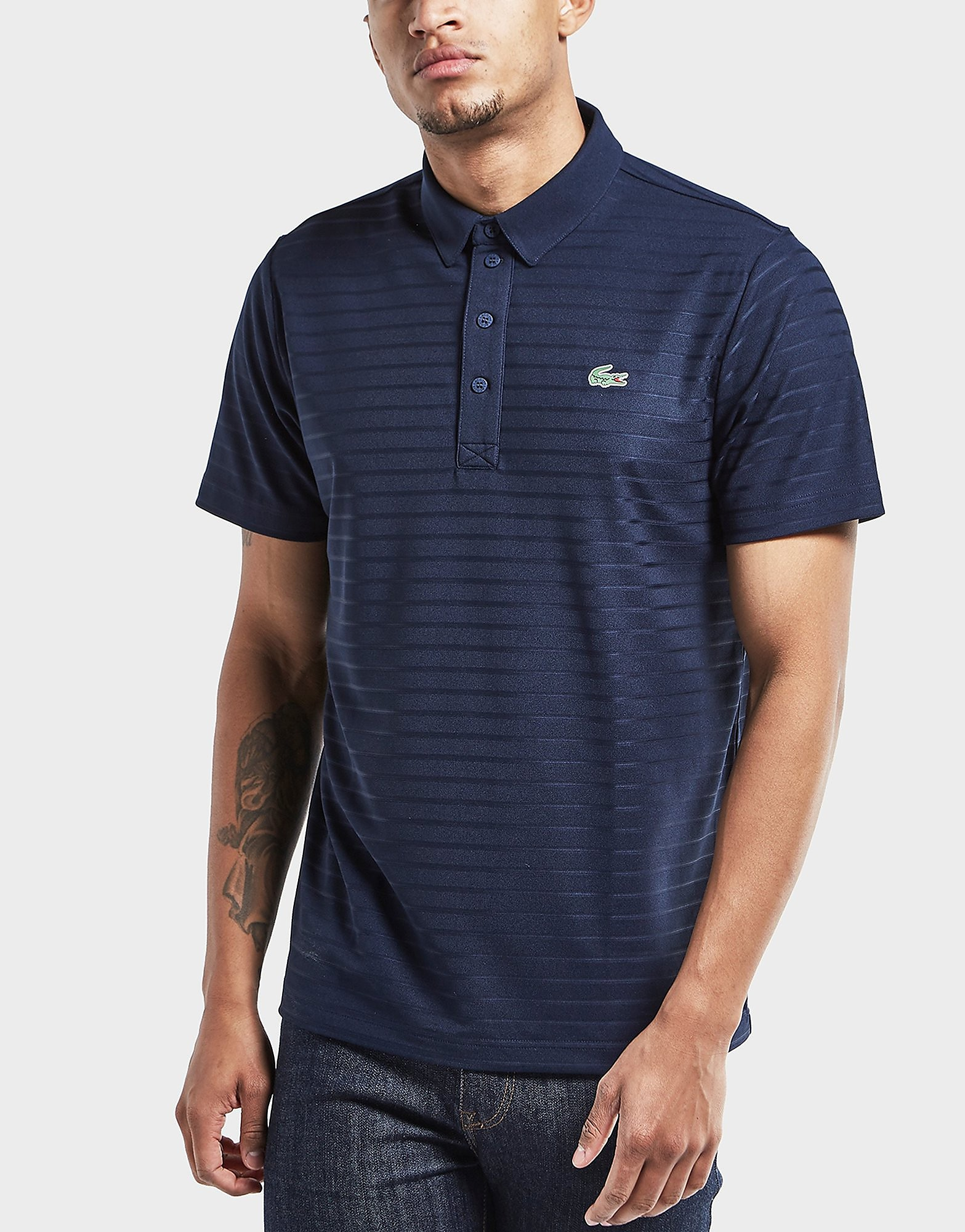 Lacoste Striped Short Sleeve Polo Shirt