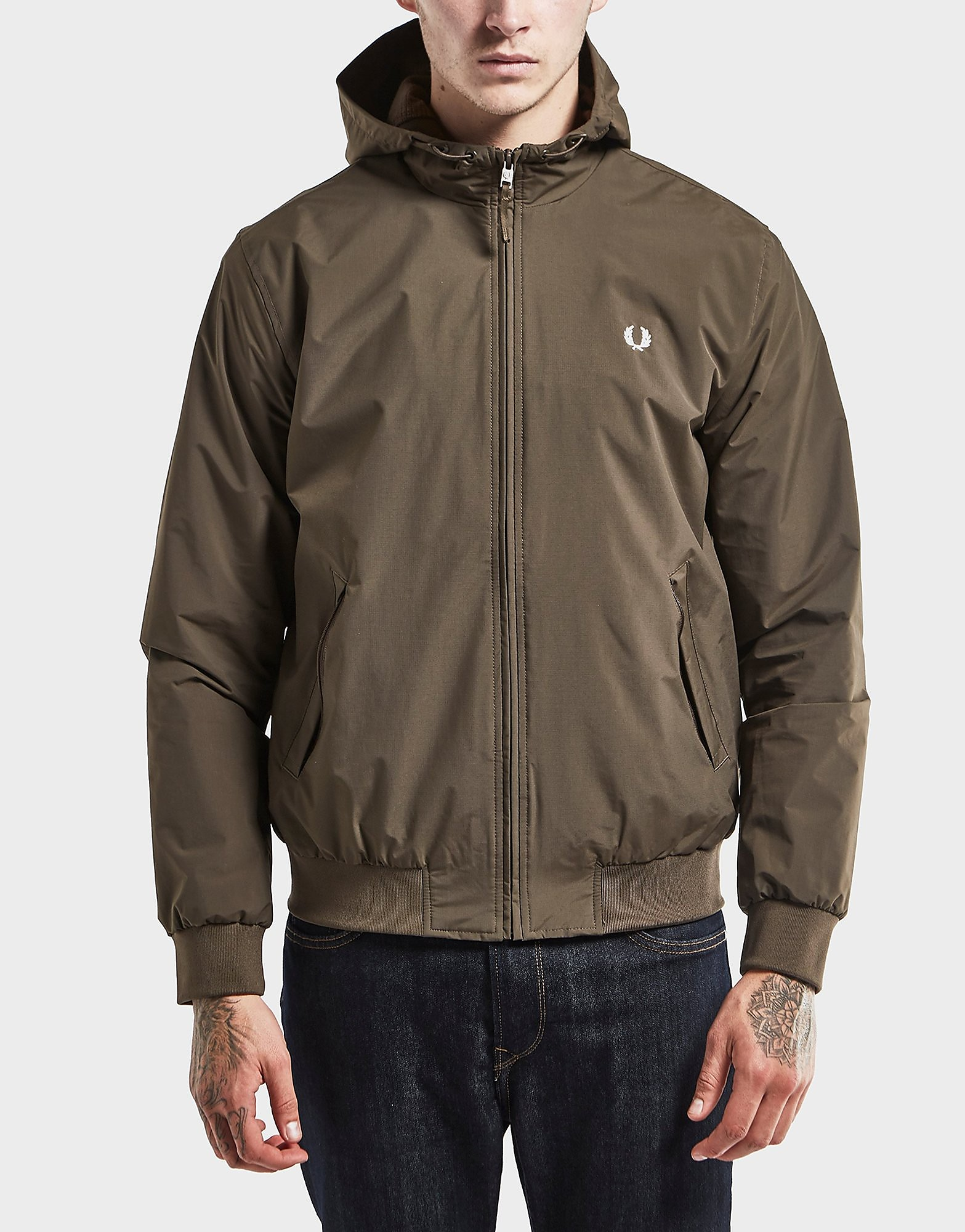 Fred Perry Brentham Hooded Lightweight Jacket - Exclusive