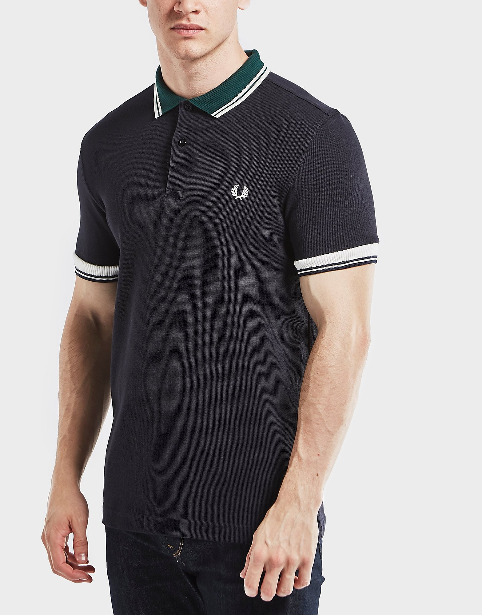 Fred Perry Ribbed Trim Short Sleeve Polo Shirt