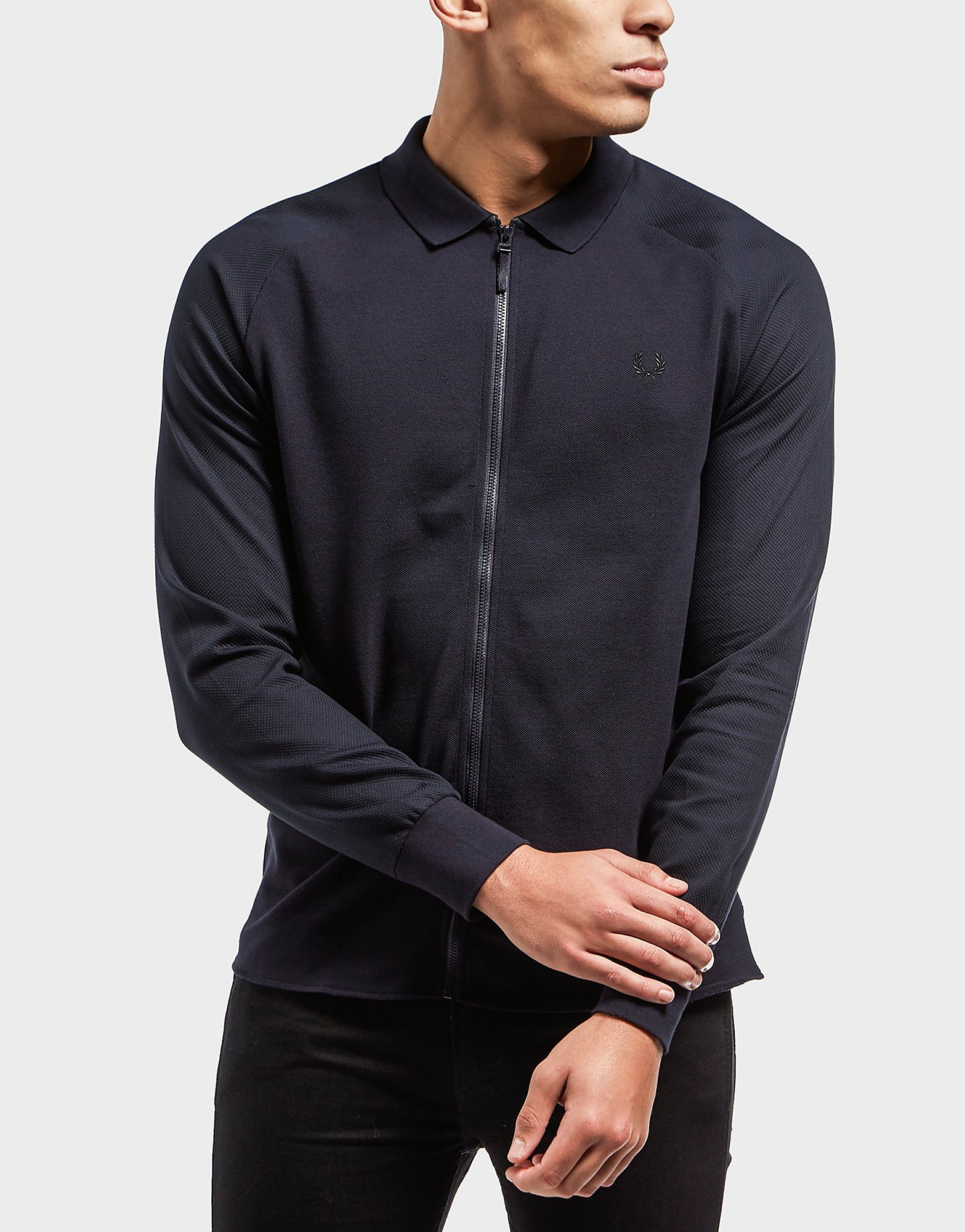 Fred Perry Poly Pique Zip Up Shirt