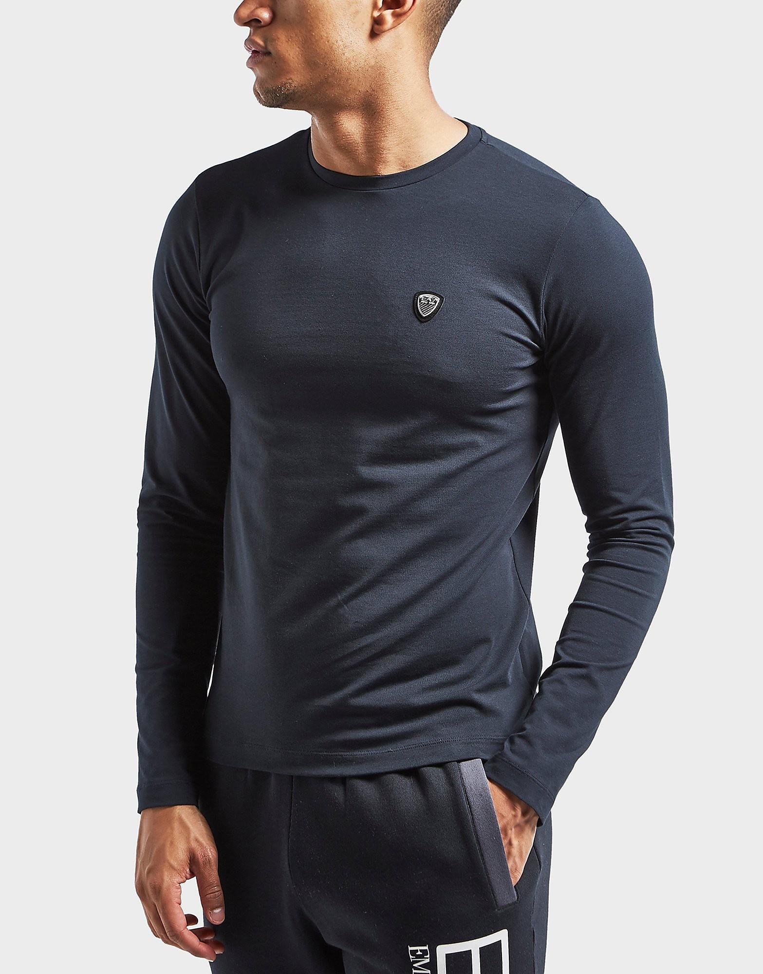 Emporio Armani EA7 Shield Long Sleeve Crew T-Shirt