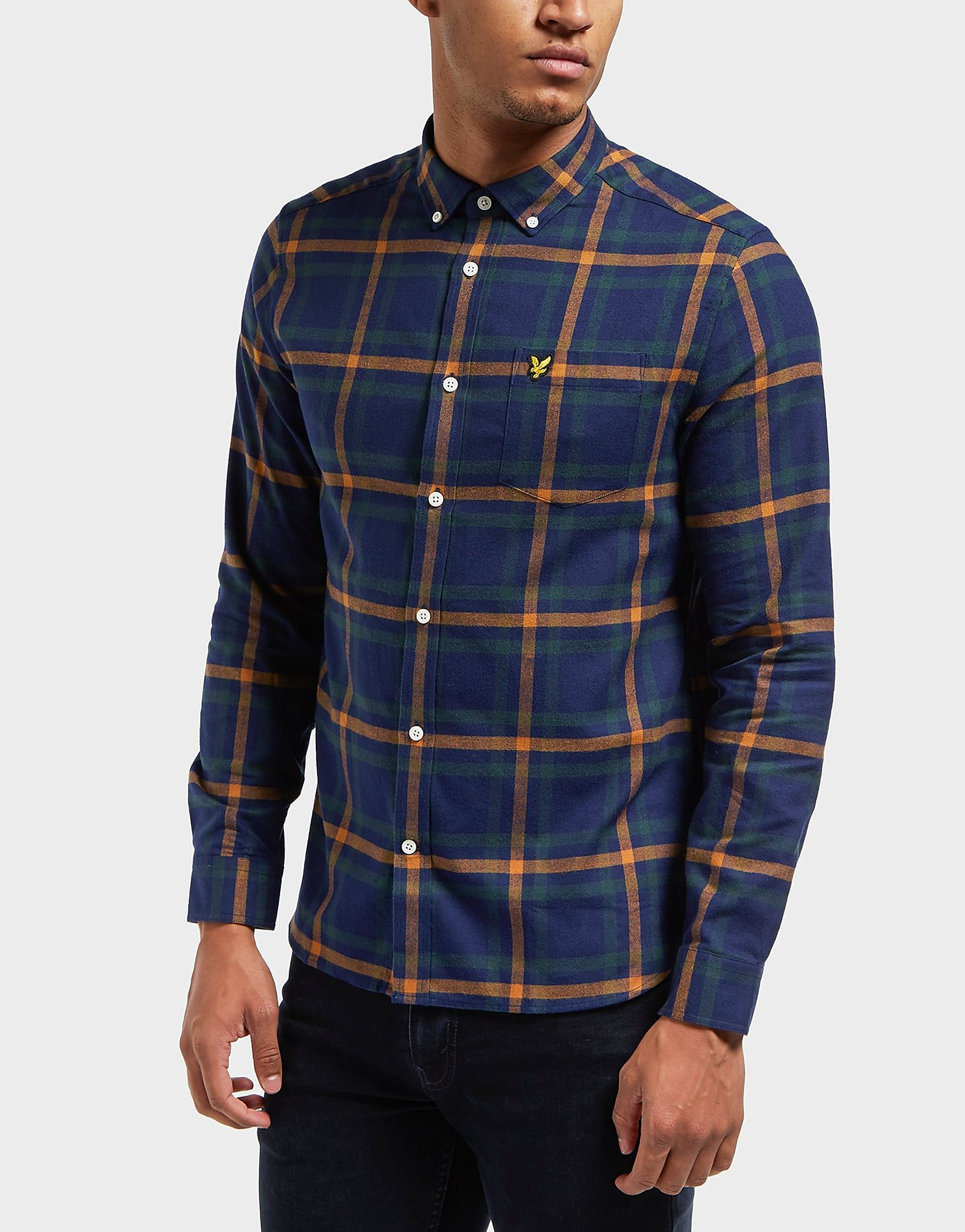 Lyle & Scott Checked Long Sleeve Flannel Shirt