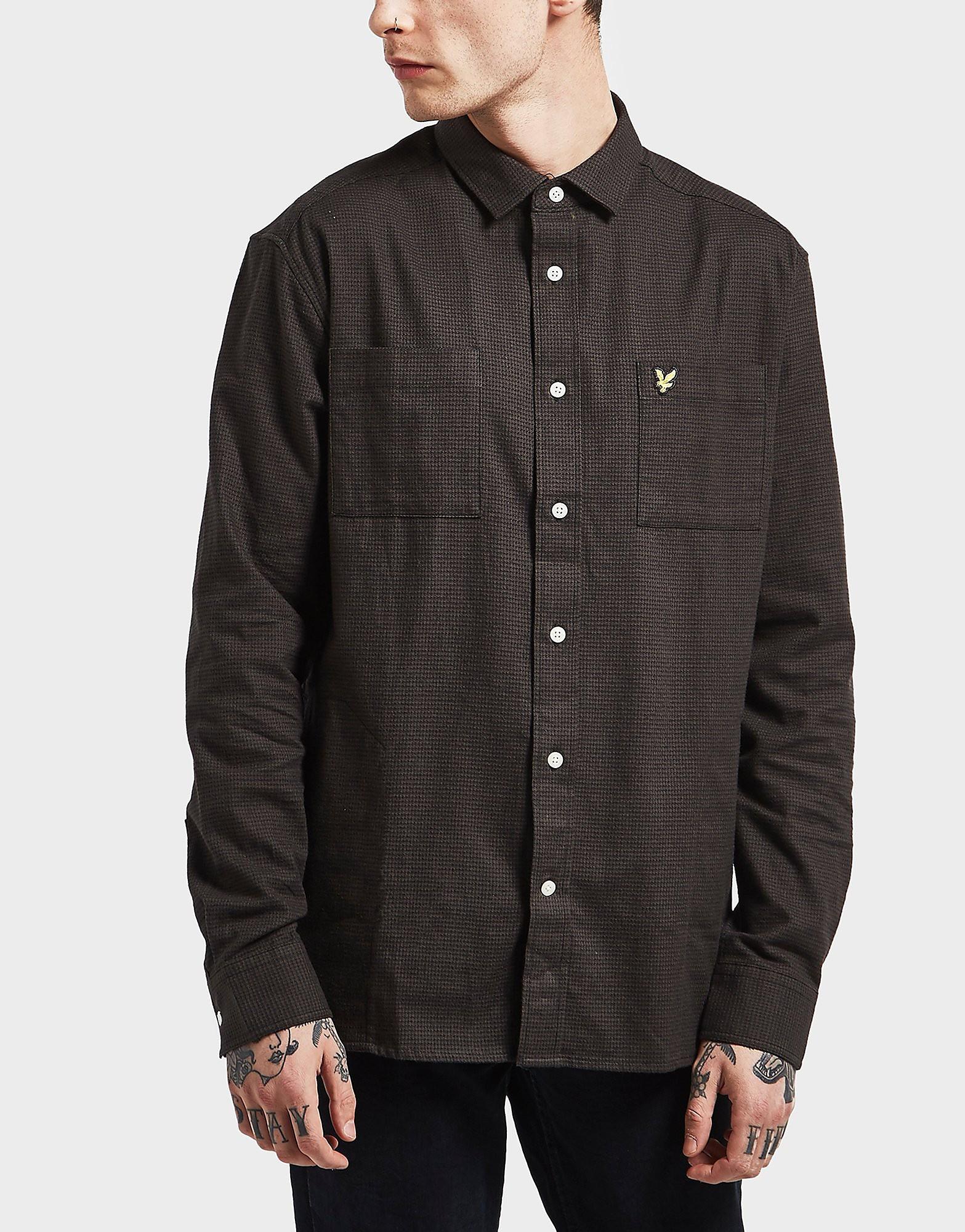 Lyle & Scott Houndstooth Long Sleeve Shirt