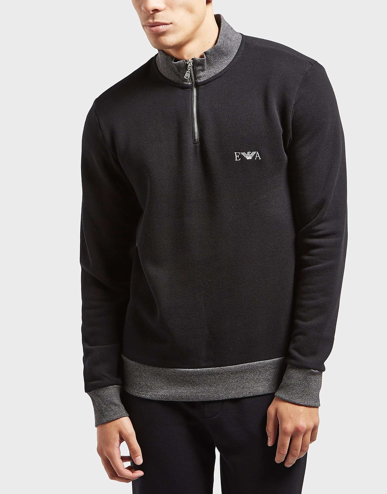 Emporio Armani Terry Quarter Zip Sweatshirt