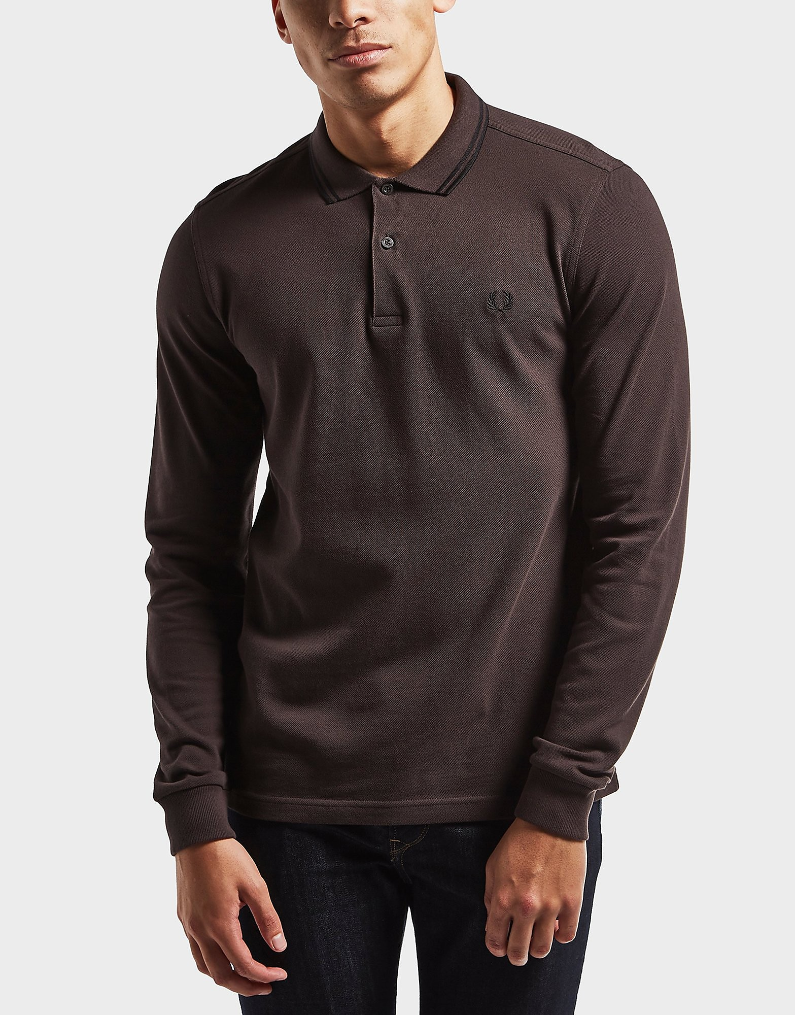 Fred Perry Twin Tipped Long Sleeve Polo Shirt