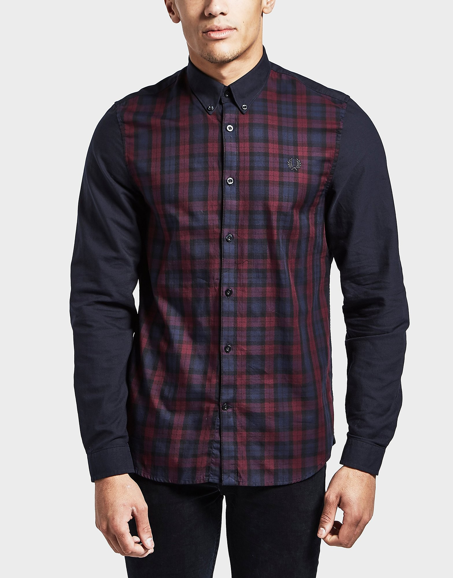 Fred Perry Block Tartan Long Sleeve Shirt