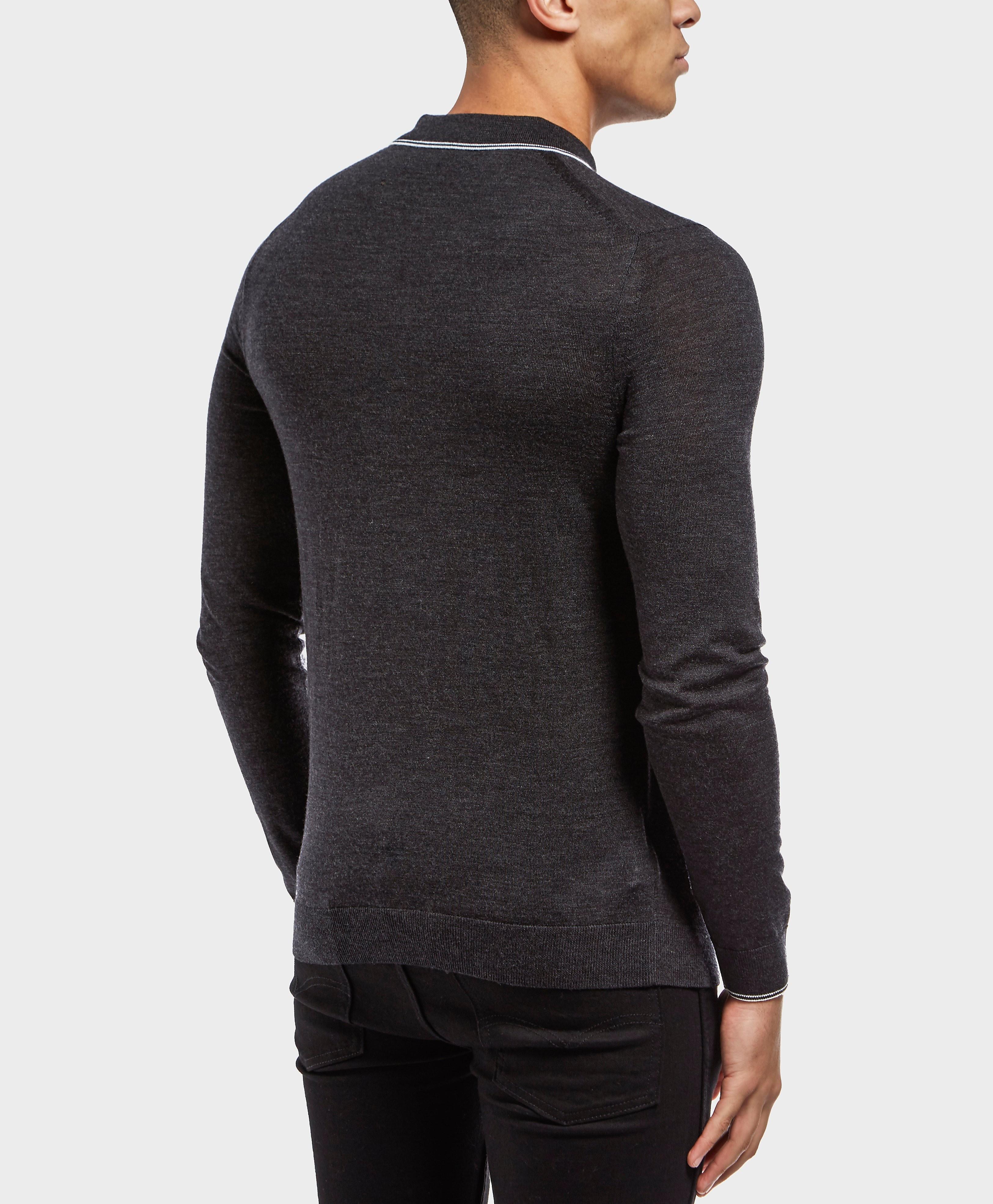 Fred Perry Merino Long Sleeve Polo Shirt