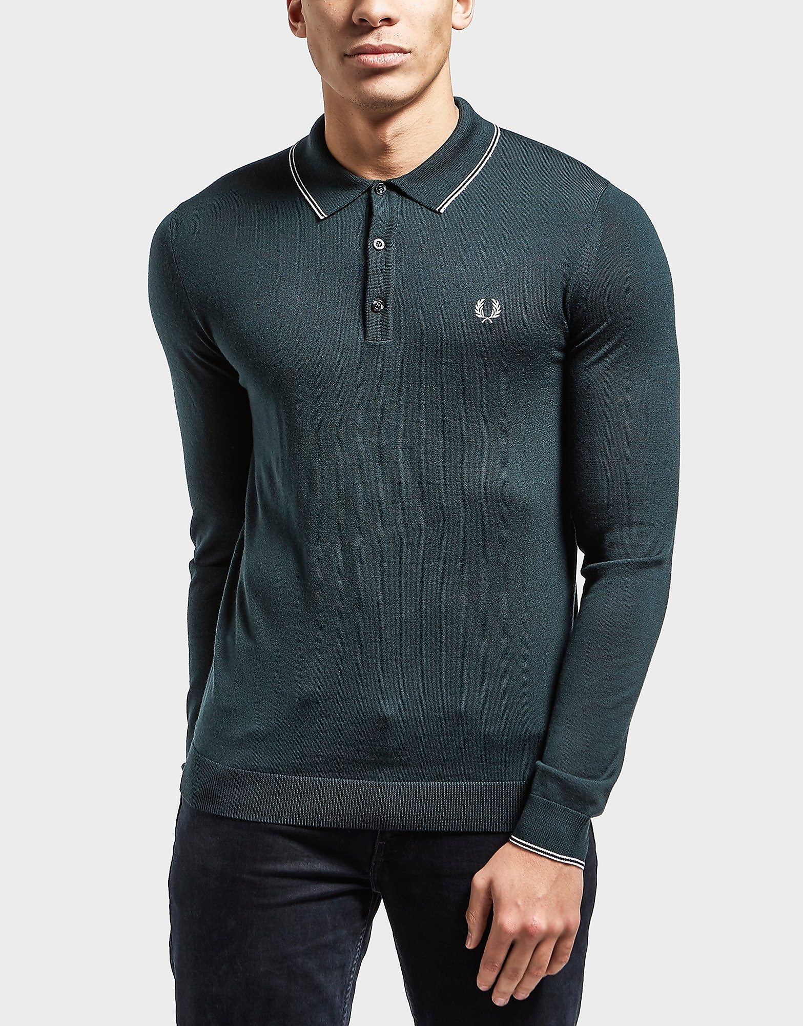 Fred Perry Merino Long Sleeve Polo Shirt