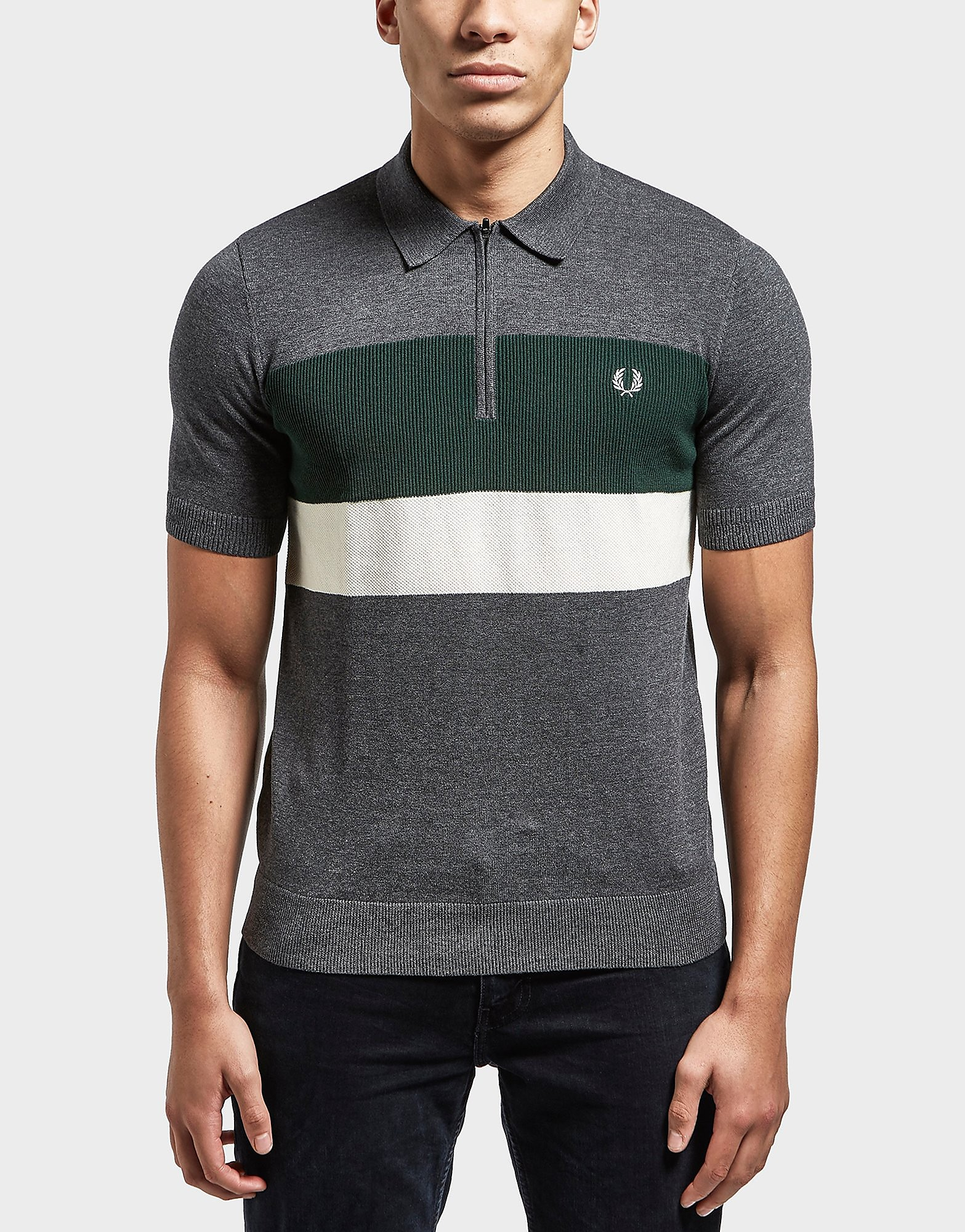 Fred Perry Block Short Sleeve Polo Shirt