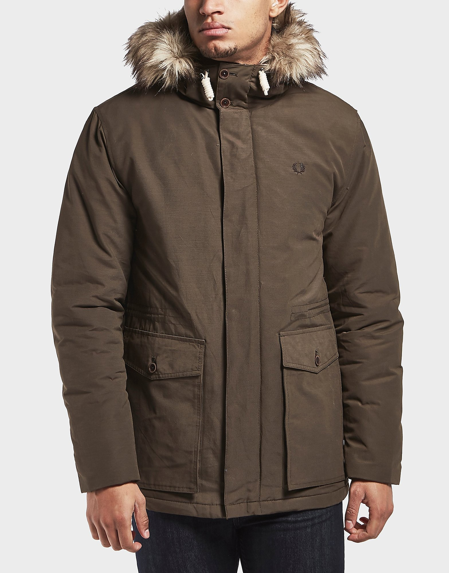Fred Perry Quilt Fur Padded Parka