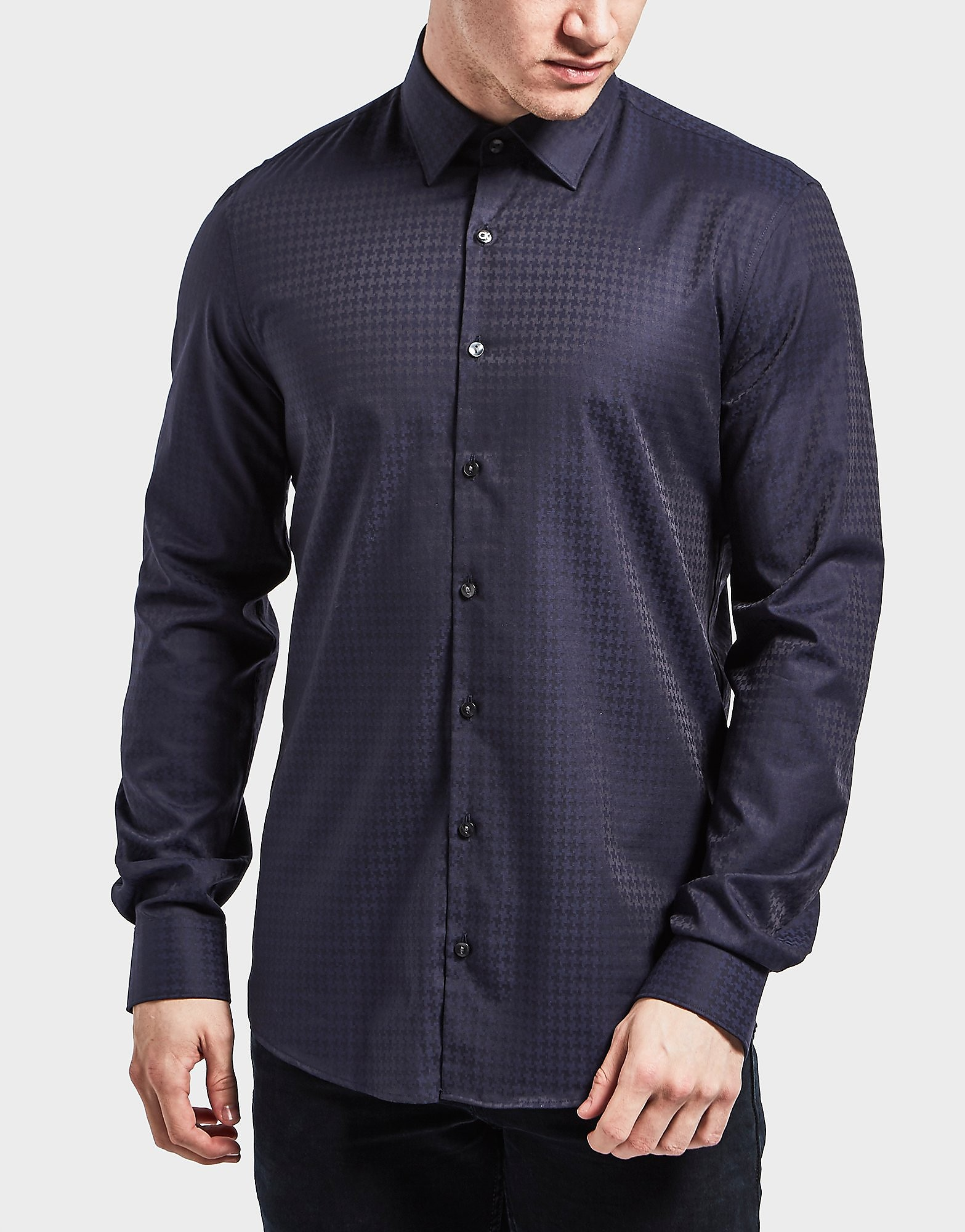 Calvin Klein Padua Houndstooth Long Sleeve Shirt
