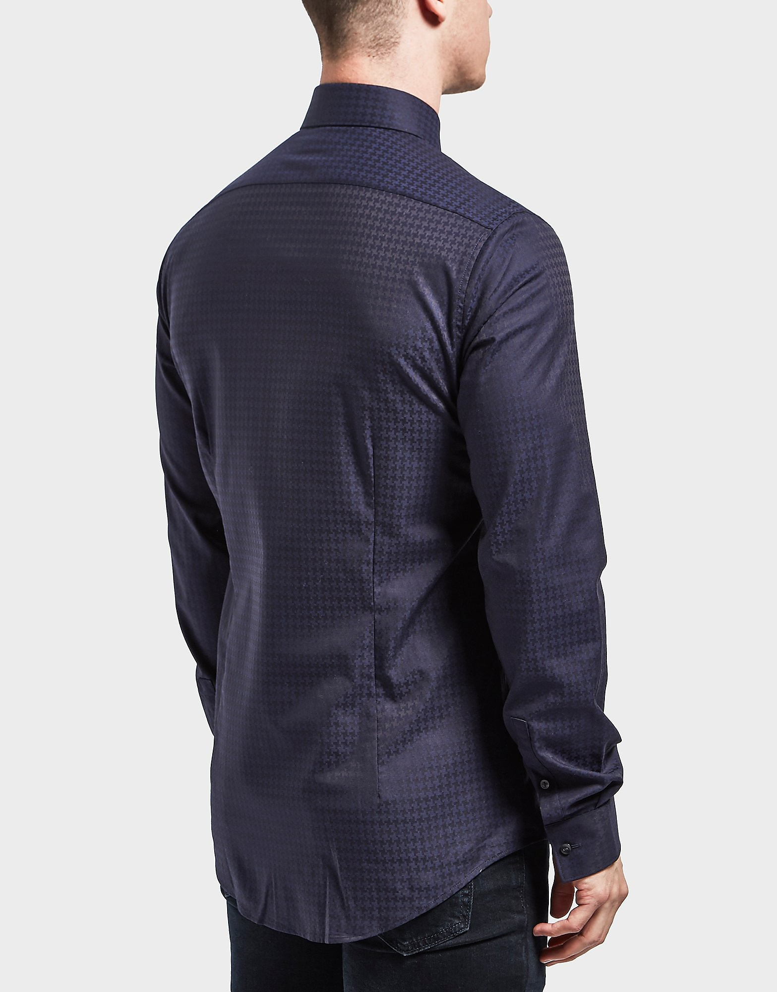 Calvin Klein Padua Houndstooth Long Sleeve Shirt