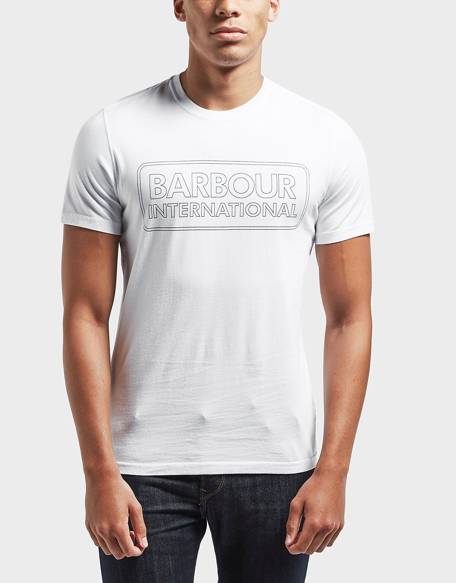 Barbour International Line Logo Short Sleeve T-Shirt