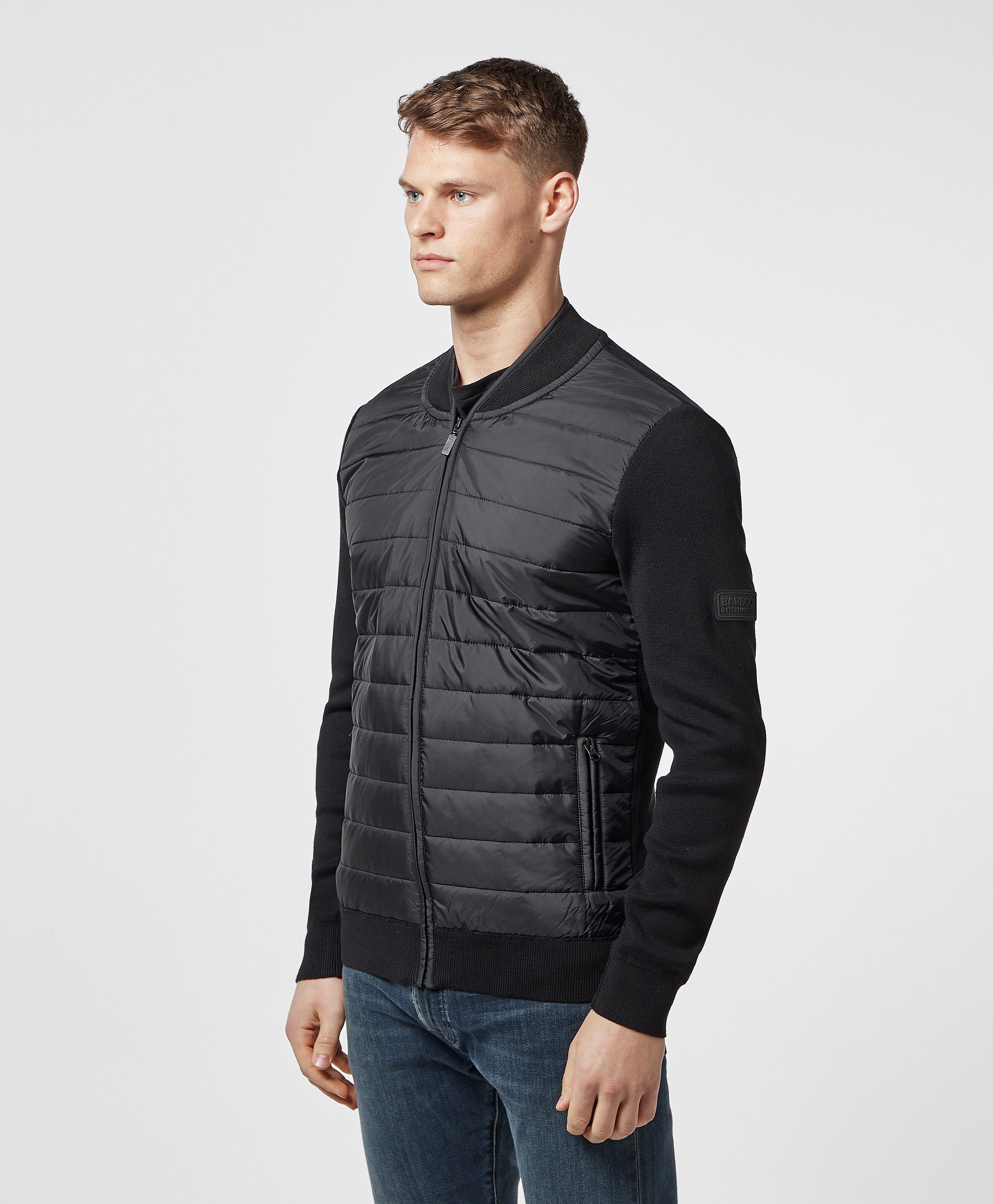 Barbour International Baffle Bomber Sweatshirt