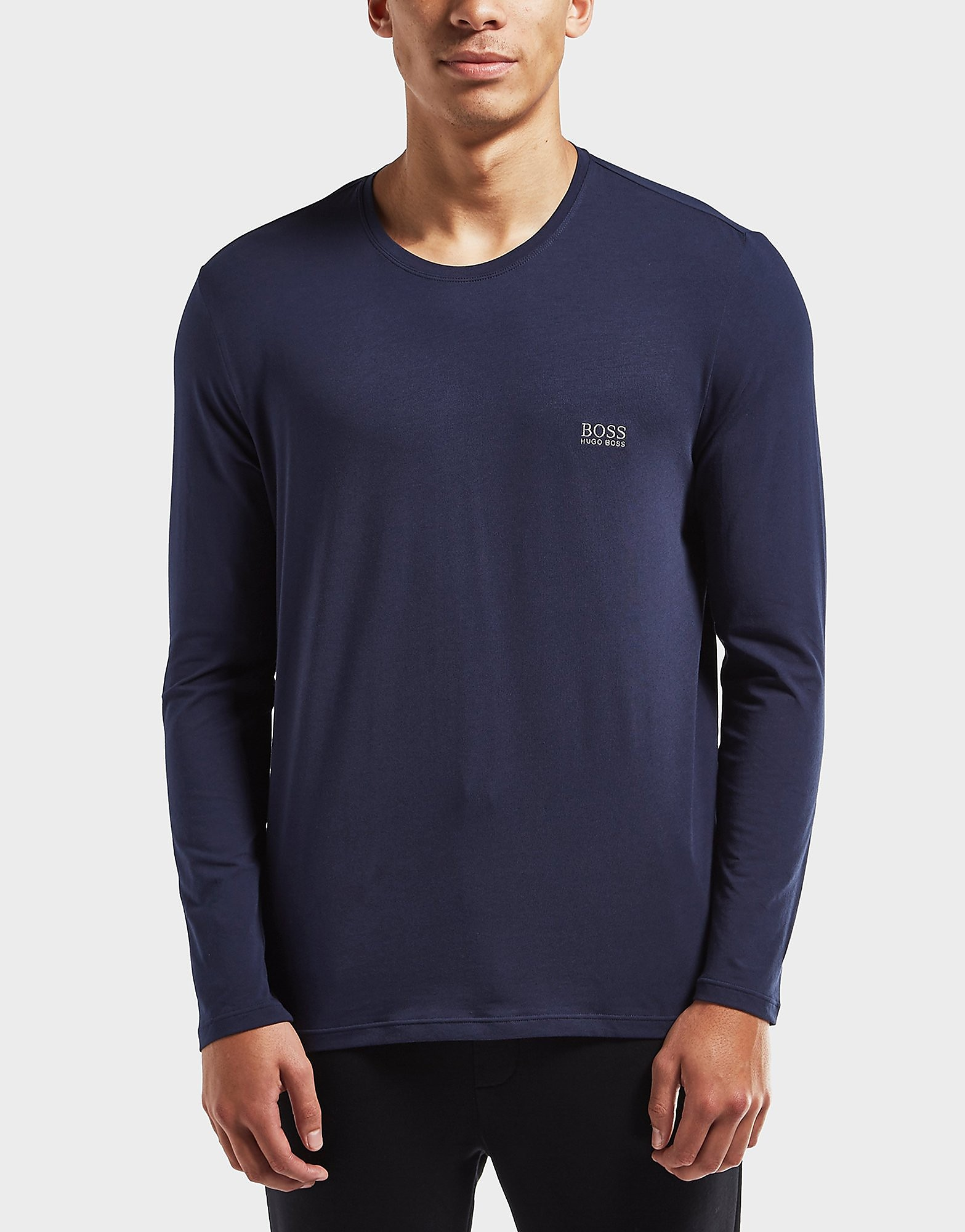 BOSS Embossed Logo Long Sleeve T-Shirt