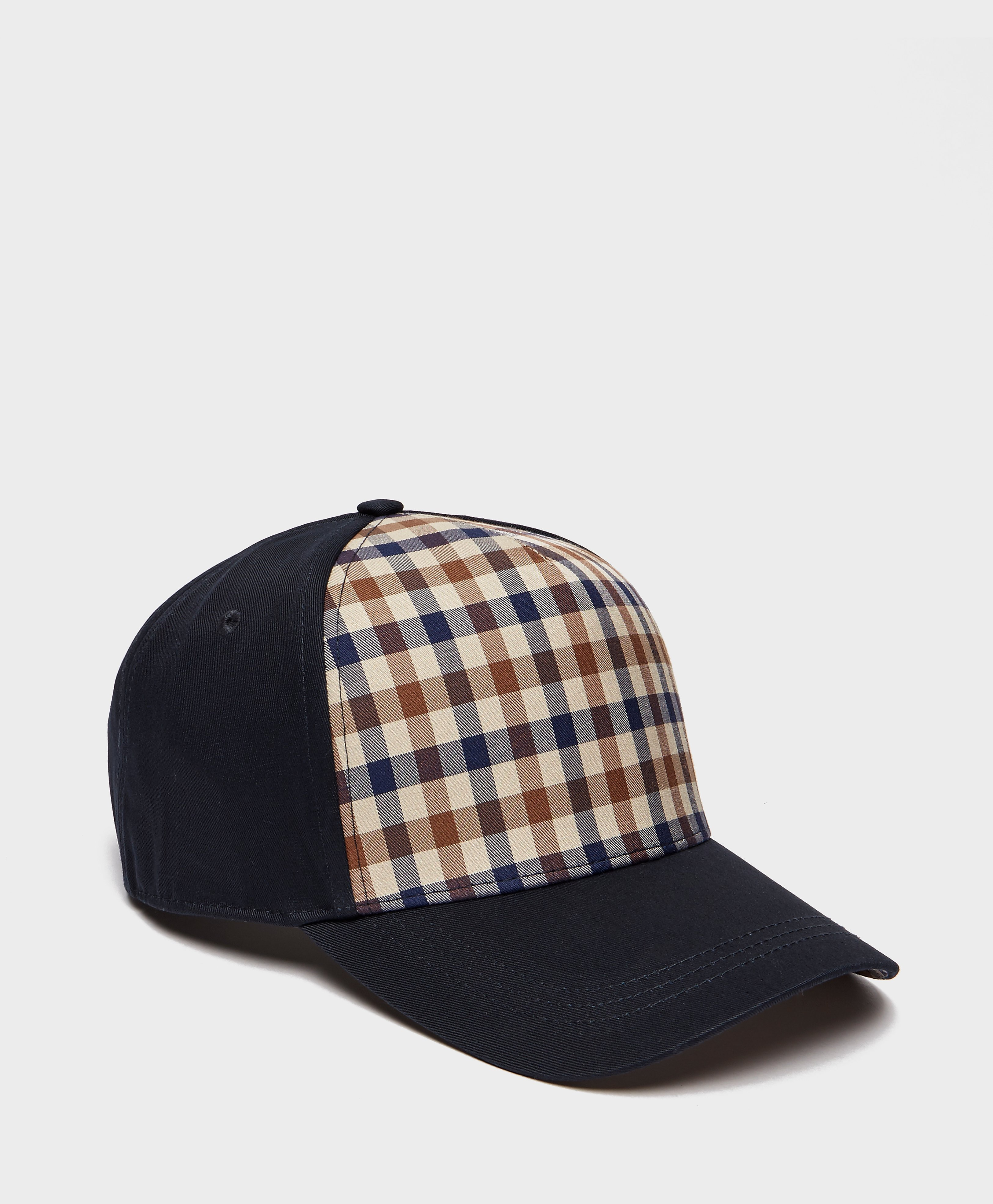 Aquascutum House Check Panel Cap