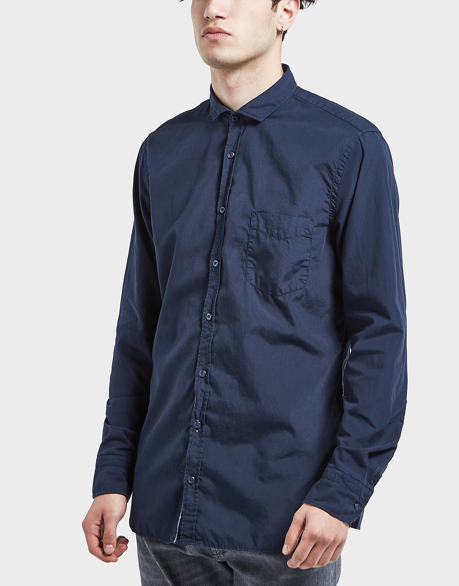 BOSS Orange Poplin Long Sleeve Shirt