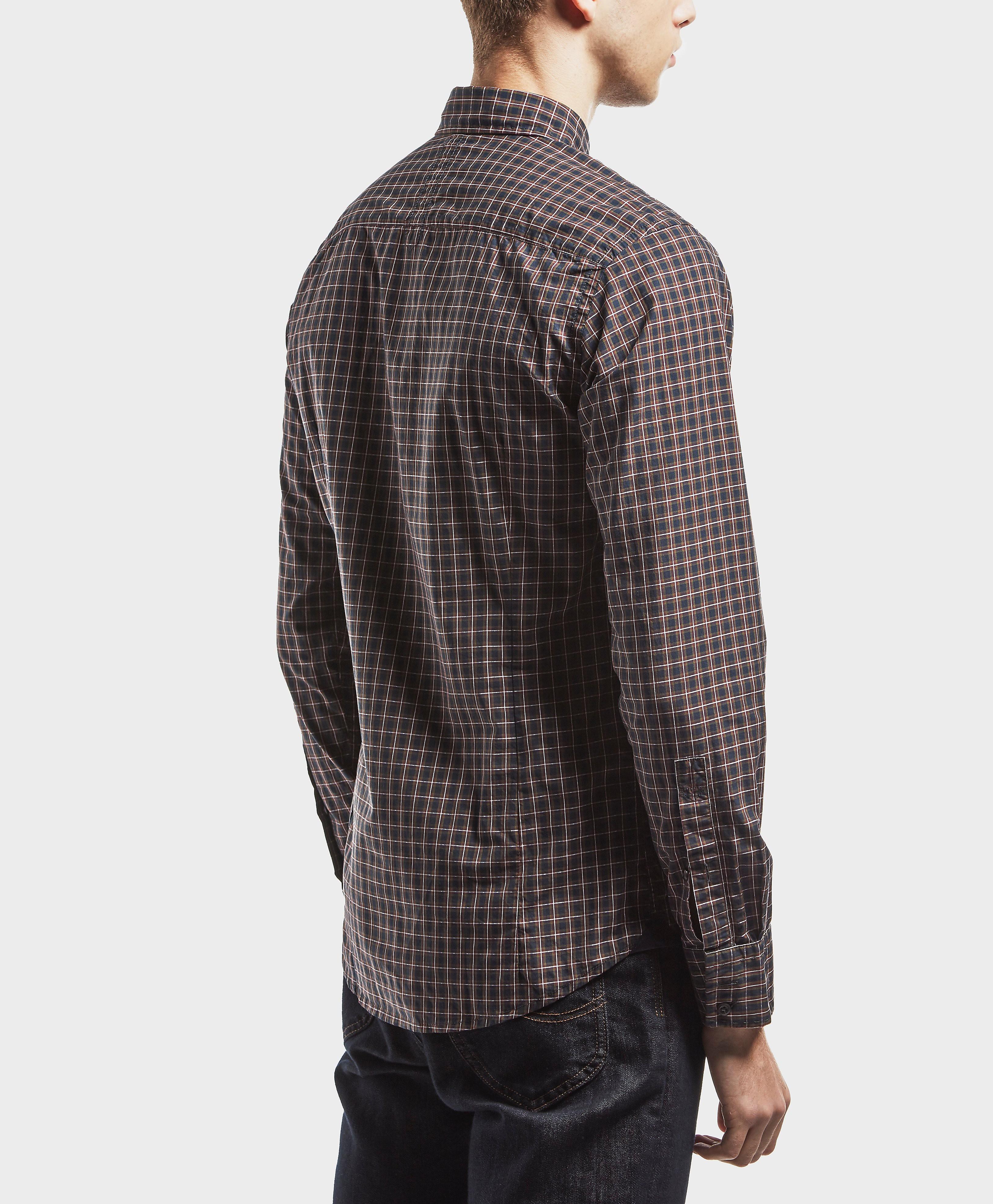 BOSS Orange Checked Long Sleeve Shirt