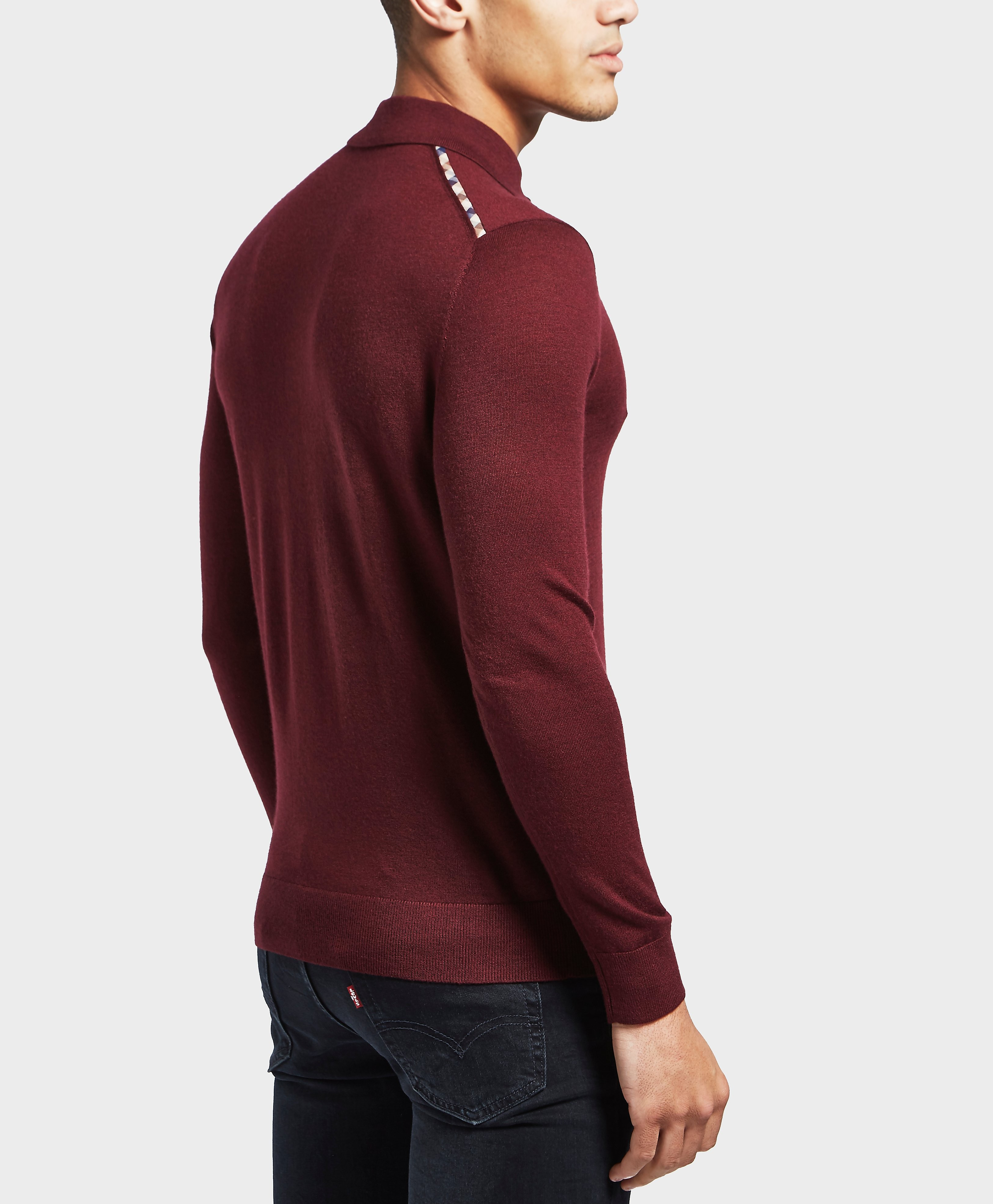 Aquascutum Ken Knitted Long Sleeve Polo Shirt
