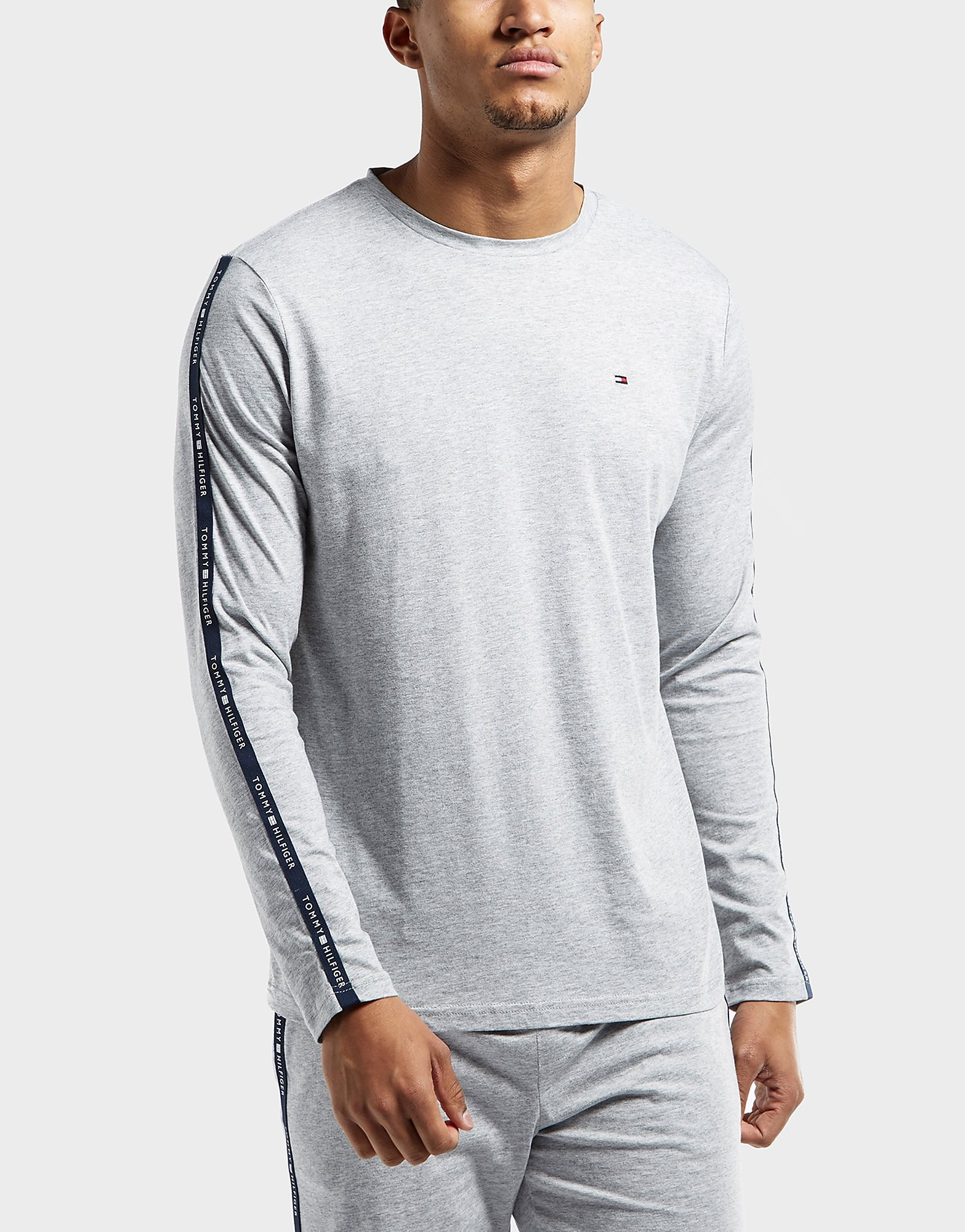 Tommy Hilfiger Logo Tape Long Sleeve T-Shirt