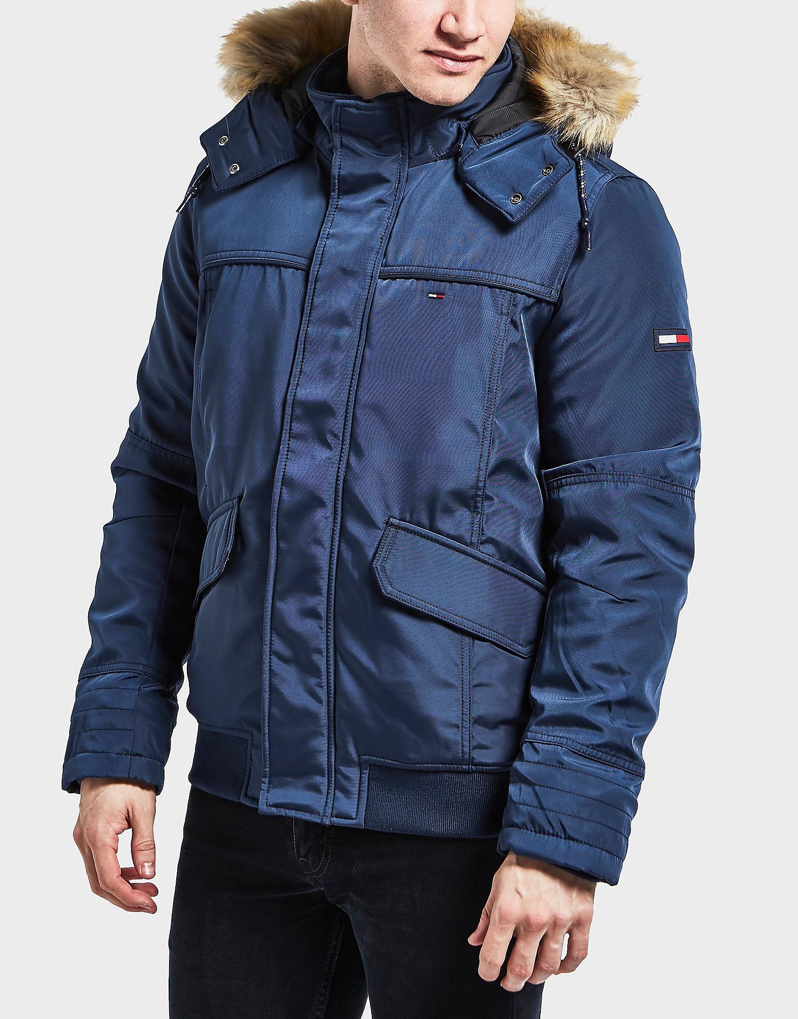 Tommy Hilfiger Fur Hooded Bomber Jacket