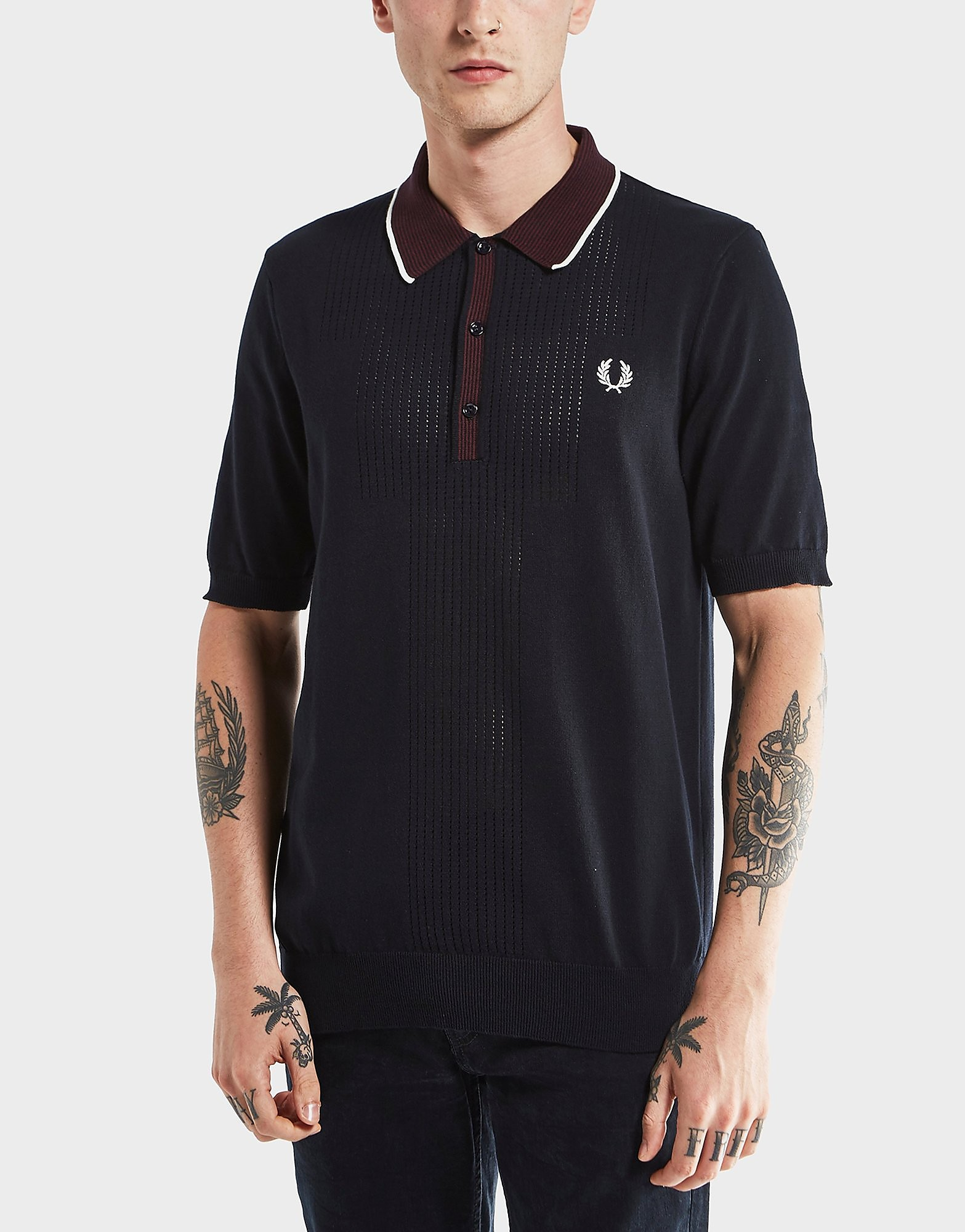 Fred Perry Point Knit Short Sleeve Polo Shirt