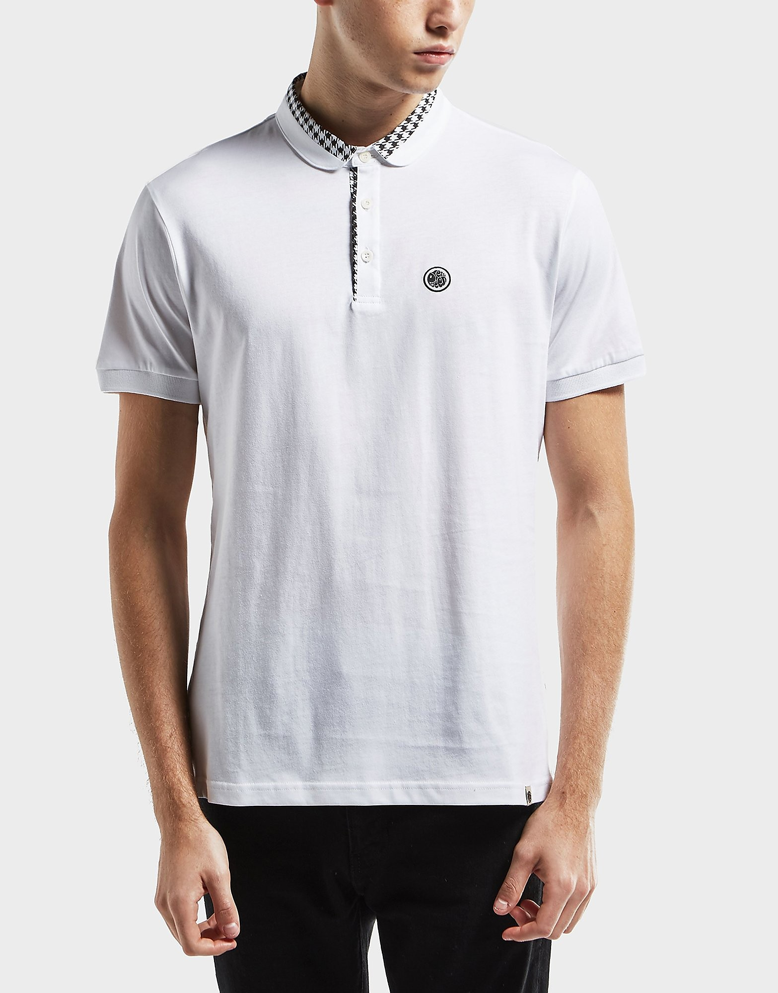 Pretty Green Houndstooth Short Sleeve Polo Shirt - Exclusive