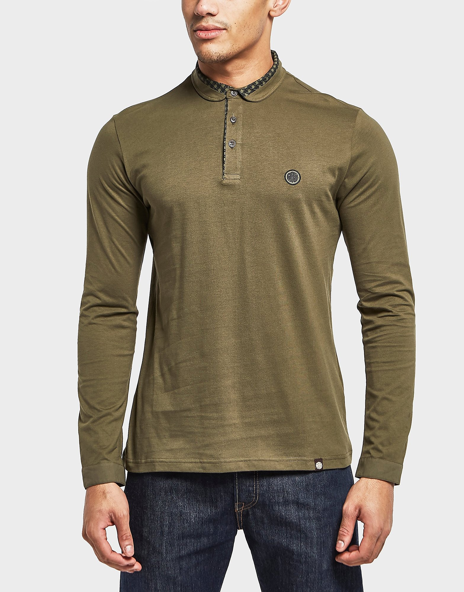 Pretty Green Hounds Carv Long Sleeve Polo Shirt - Exclusive