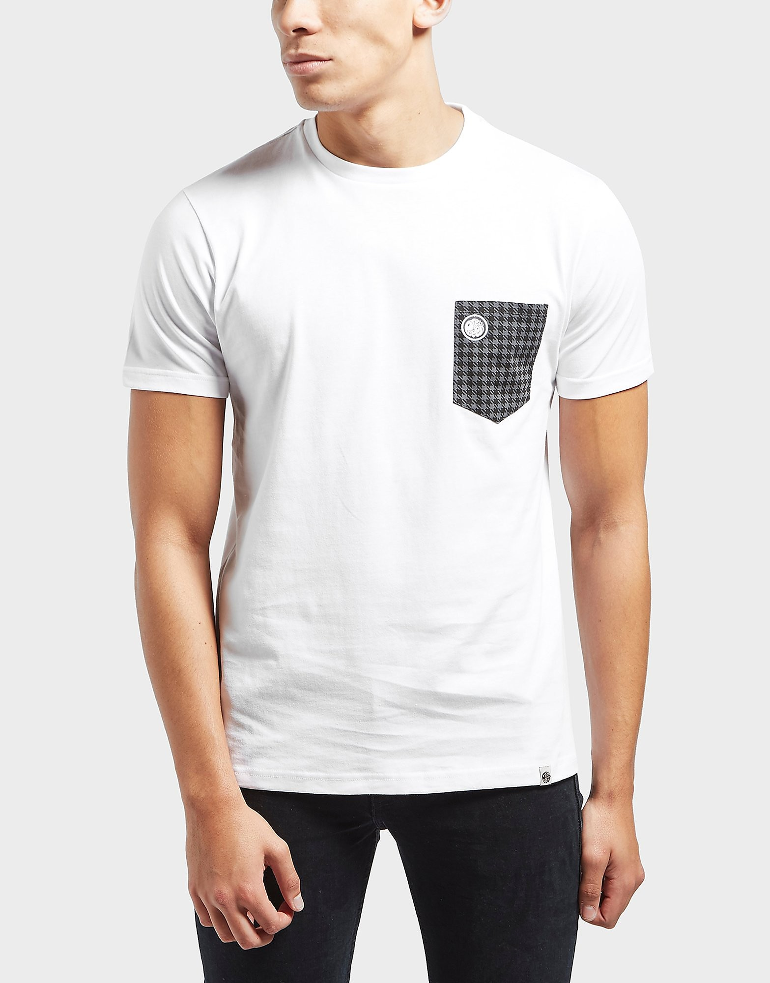 Pretty Green Houndstooth Pocket Short Sleeve T-Shirt