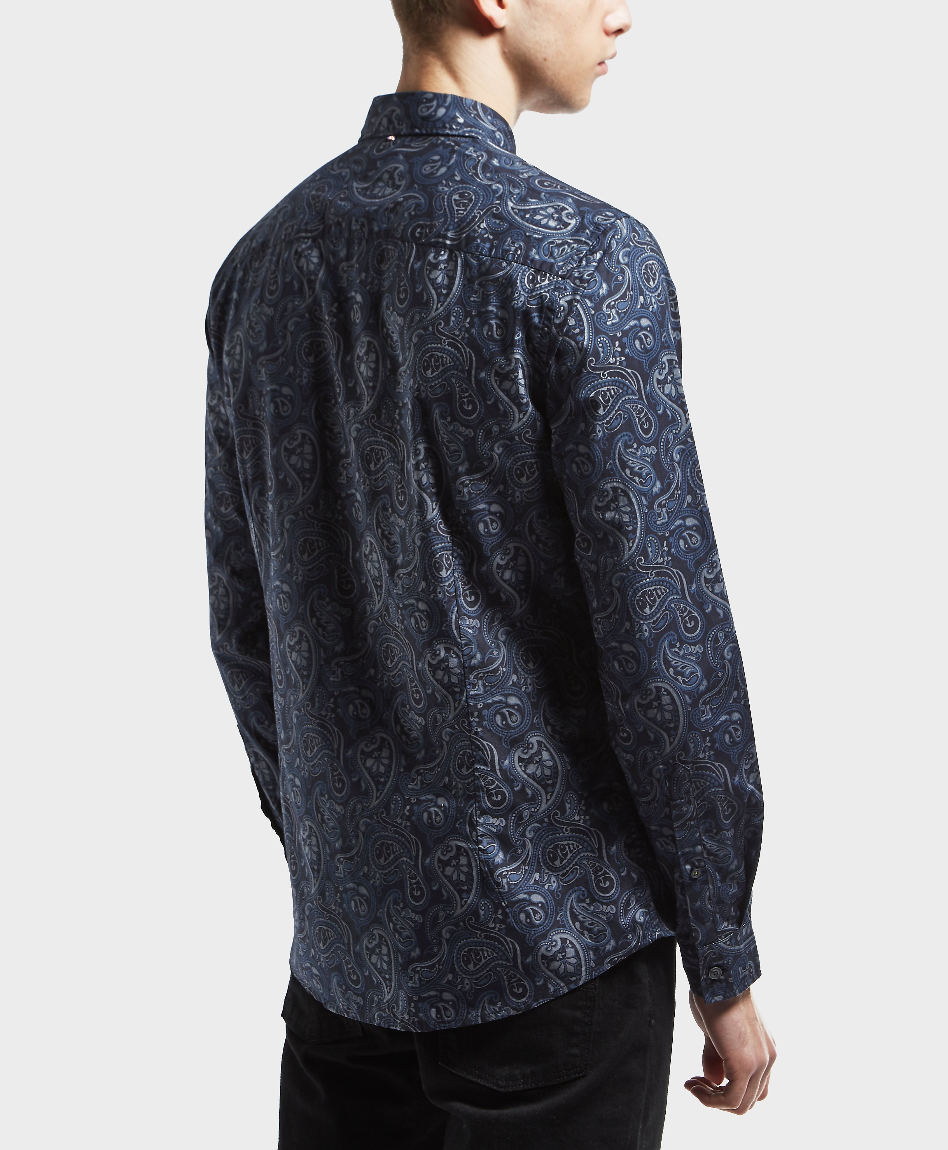 Pretty Green Paisley Long Sleeve Shirt