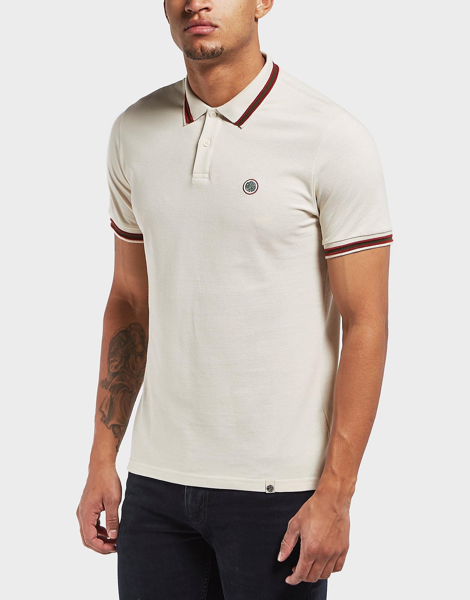 Pretty Green Bennet Tip Pique Short Sleeve Polo Shirt