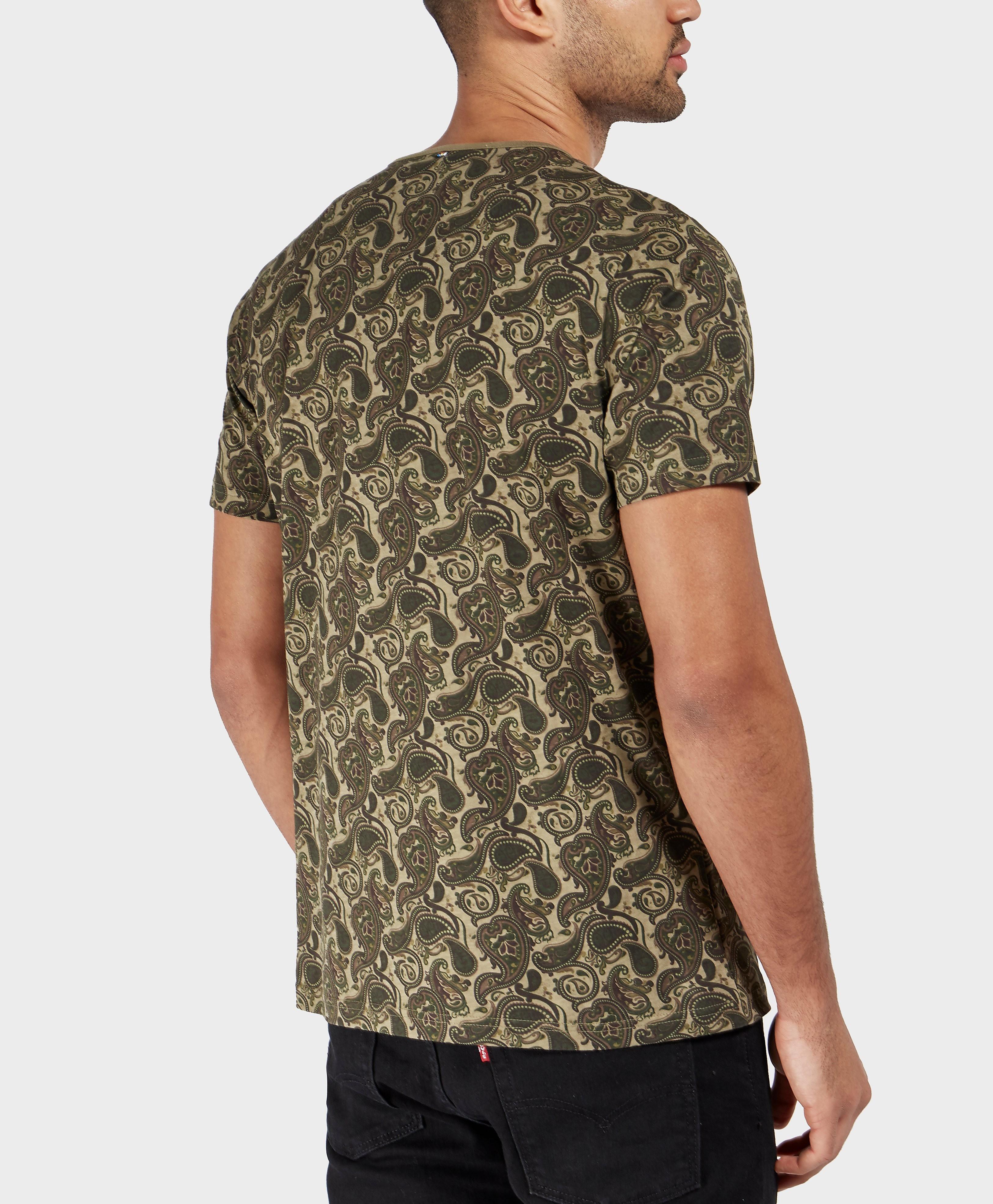 Pretty Green Camo Paisley Short Sleeve T-Shirt